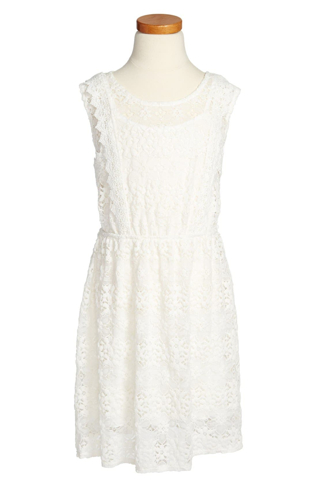 Main Image - Kiddo Ivory Lace Dress (Big Girls)