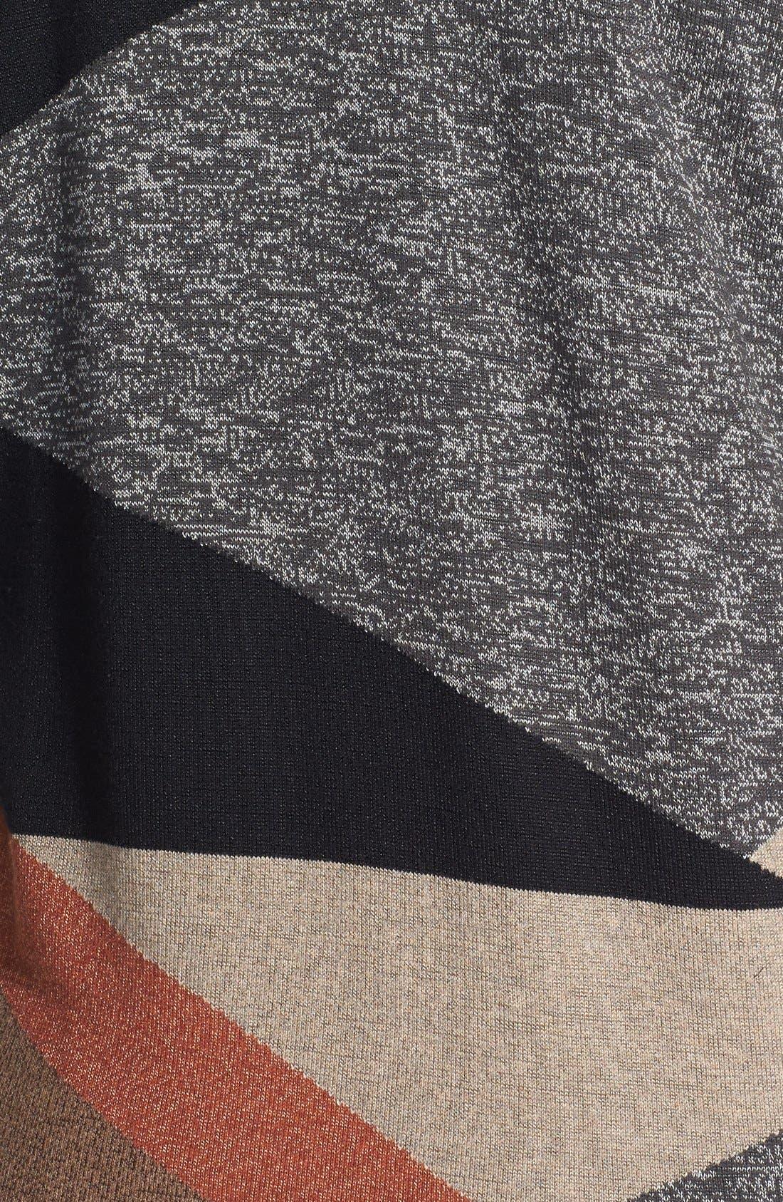 Alternate Image 3  - NIC+ZOE Intarsia Drape Front Cardigan (Plus Size)