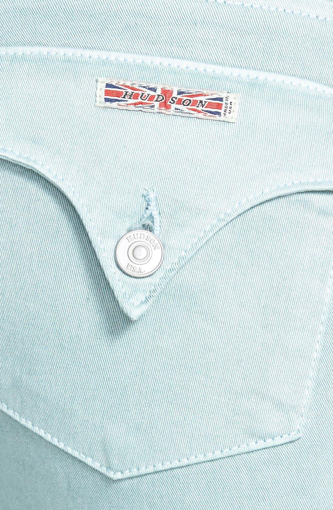 Alternate Image 3  - Hudson Jeans 'Collin' Crop Skinny Jeans (Dusty Pistachio)