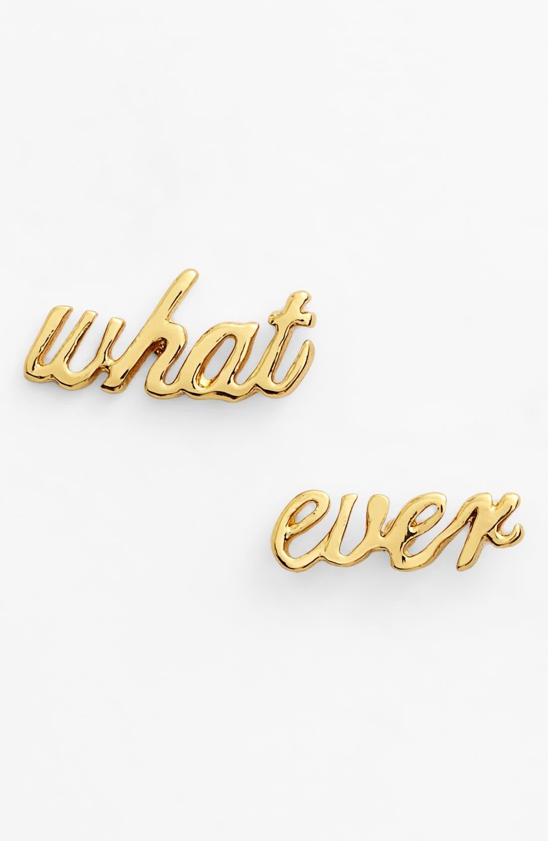 Main Image - kate spade new york 'say yes - whatever' stud earrings
