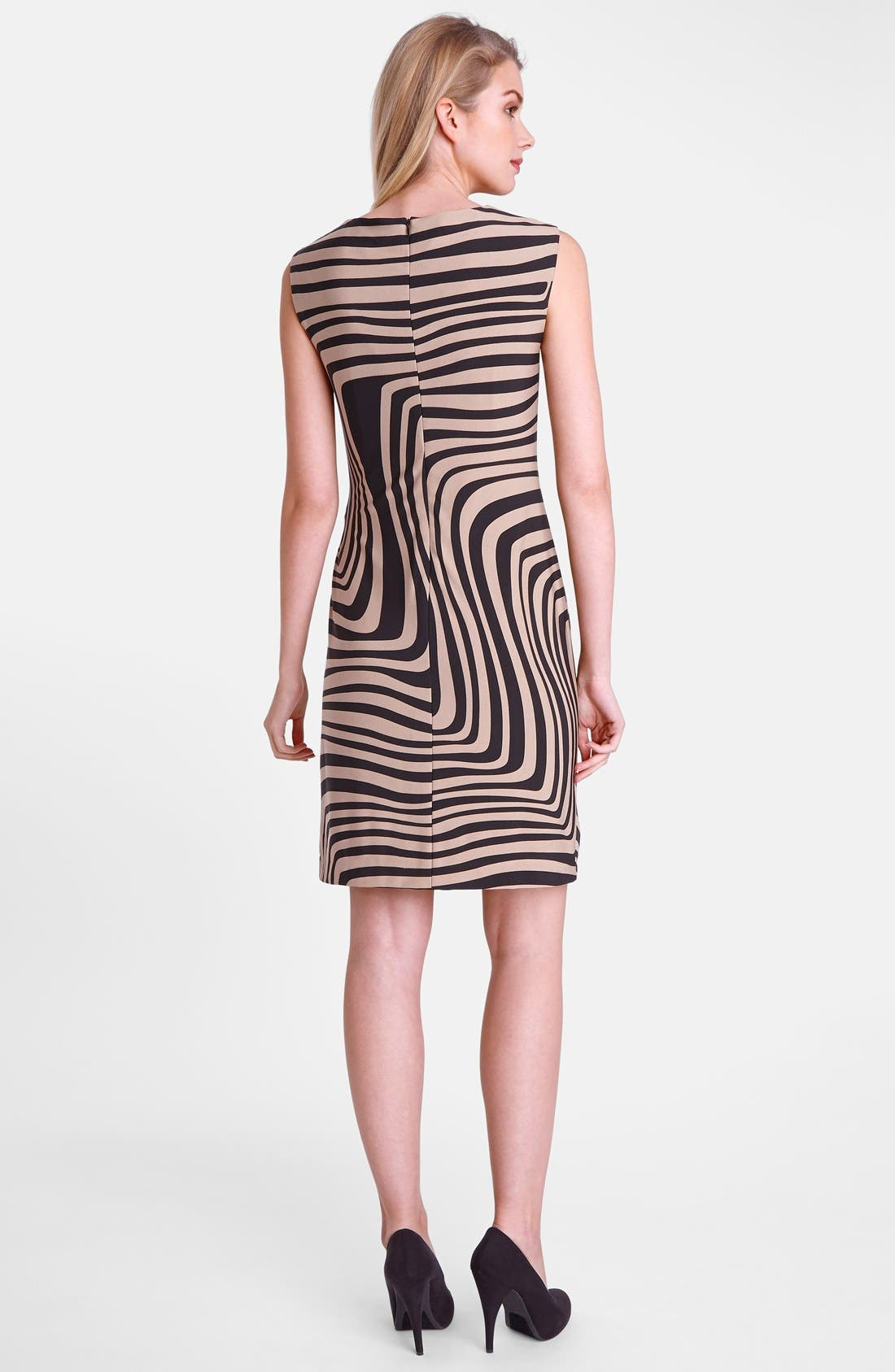 Alternate Image 2  - Tahari 'Wave' Print Cowl Neck Sheath Dress