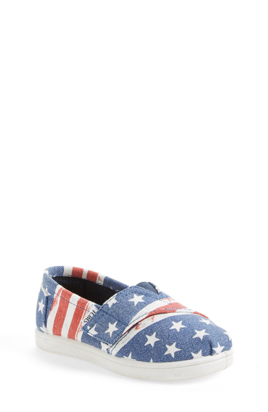 Alternate Image 1 Selected - TOMS 'Classic Tiny - American Flag' Slip-On (Baby, Walker & Toddler)
