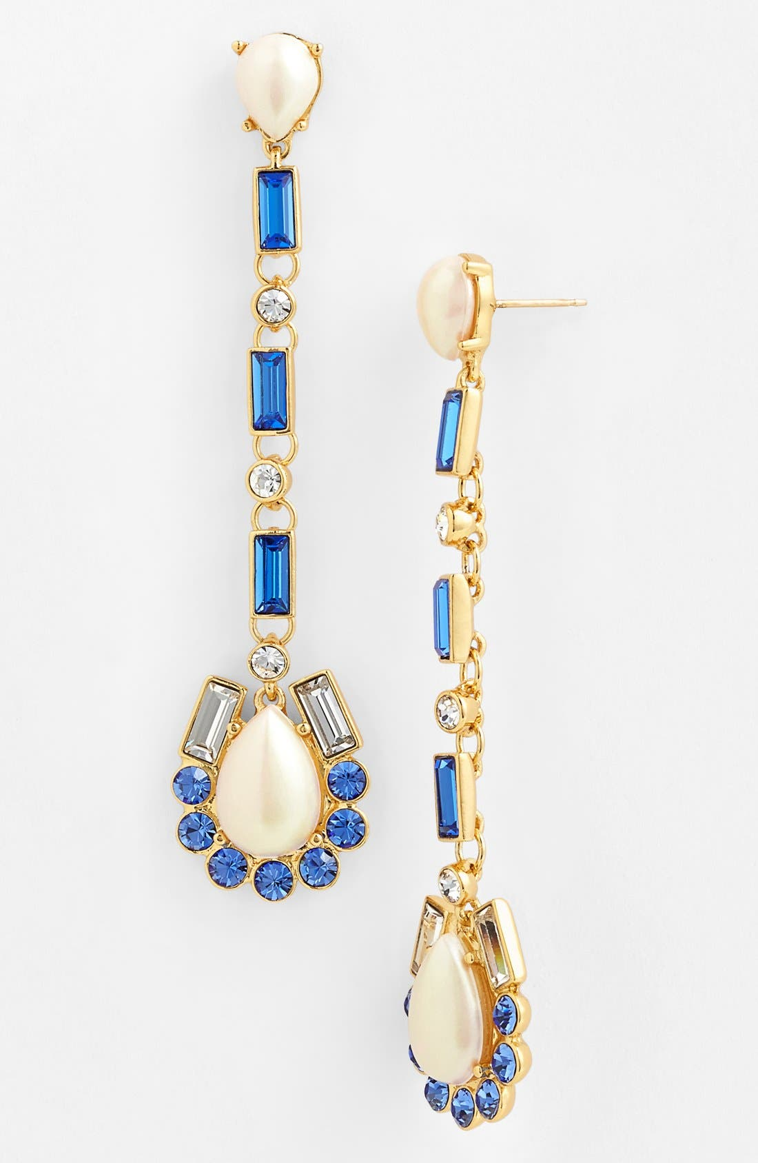 Alternate Image 1 Selected - kate spade new york 'sunrise cluster' linear drop earrings