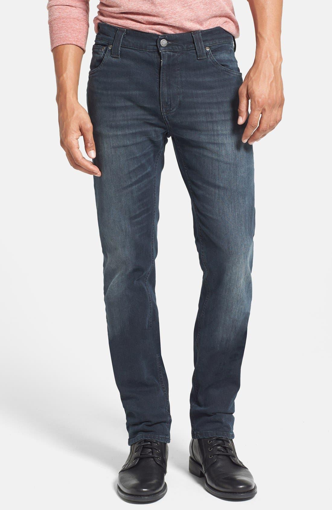 Main Image - Nudie Jeans 'Thin Finn' Skinny Fit Jeans (Organic Black Grey)