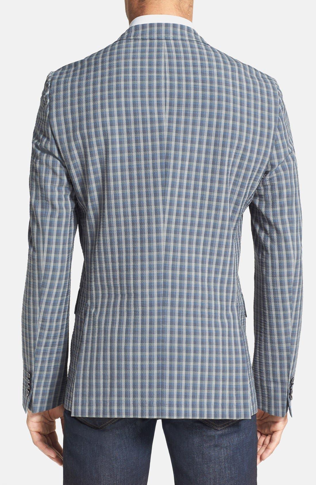 Alternate Image 2  - BOSS HUGO BOSS 'Noris' Trim Fit Plaid Sport Coat