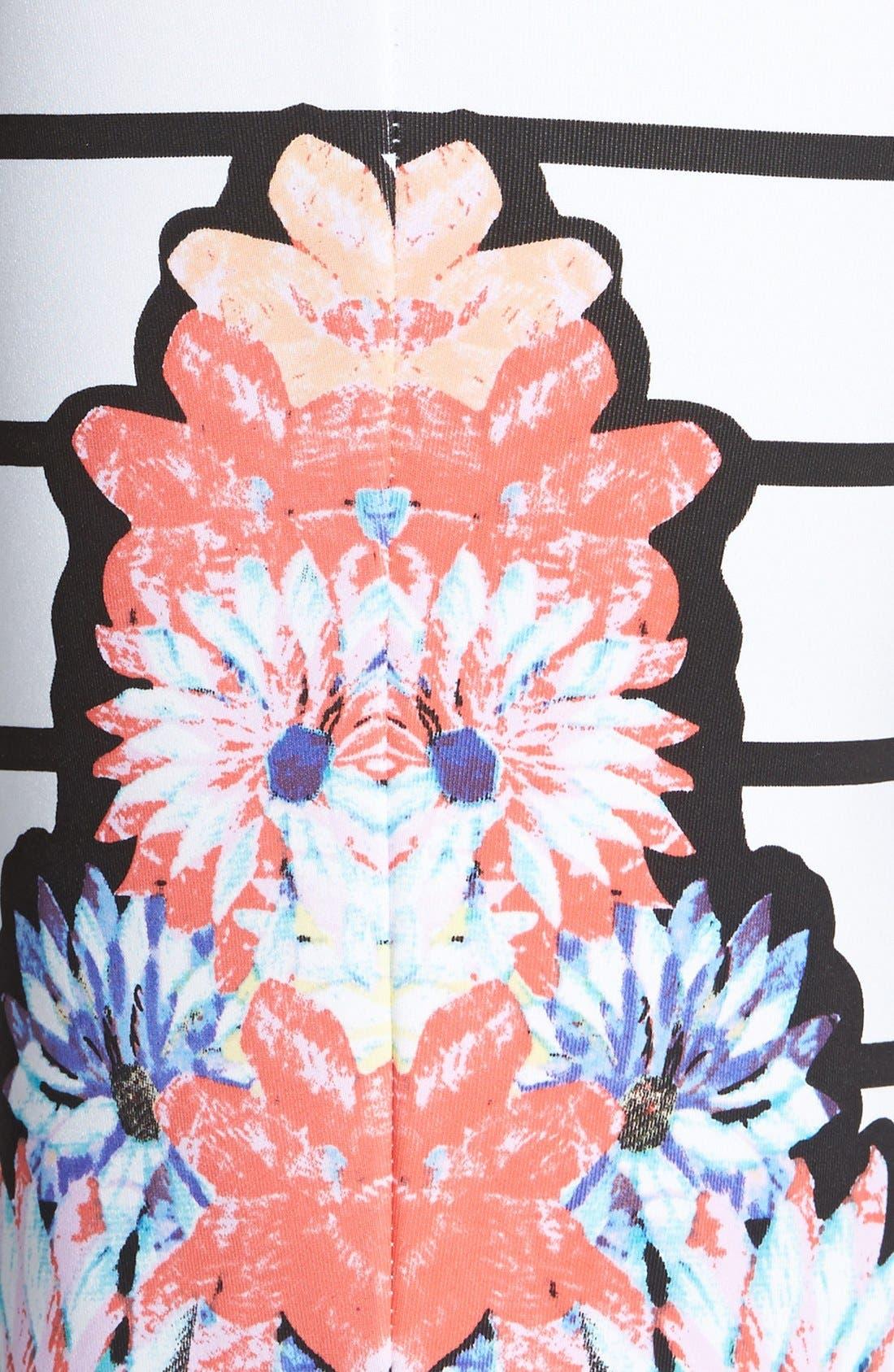 Alternate Image 3  - MINKPINK 'Fade into Daisies' Print Stripe Tube Skirt