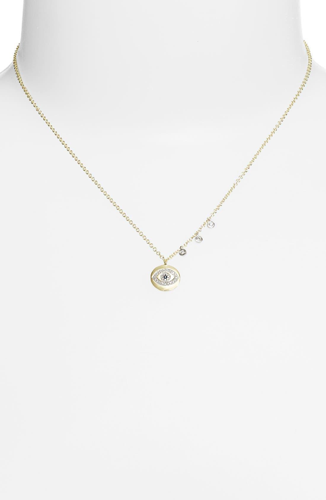 Alternate Image 2  - MeiraT Evil Eye Charm Necklace