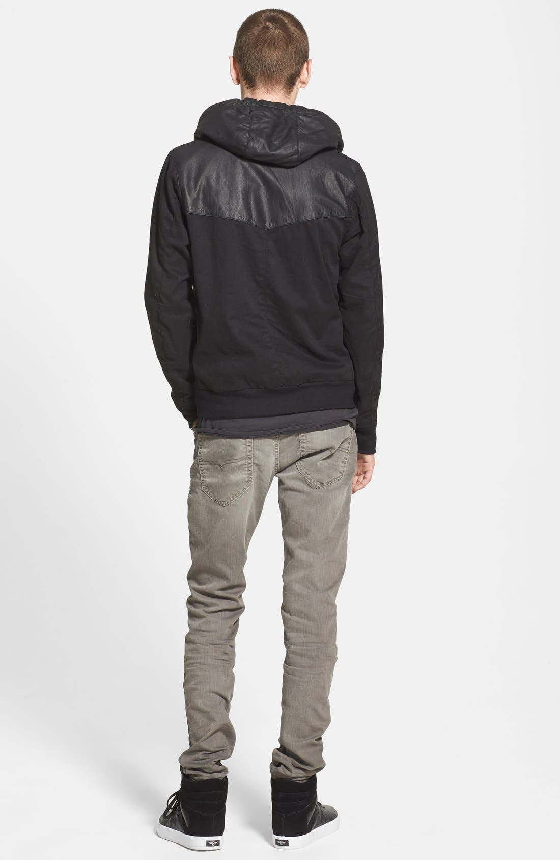 Alternate Image 5  - ZANEROBE Zip Hoodie with Leather Trim (Online Only)