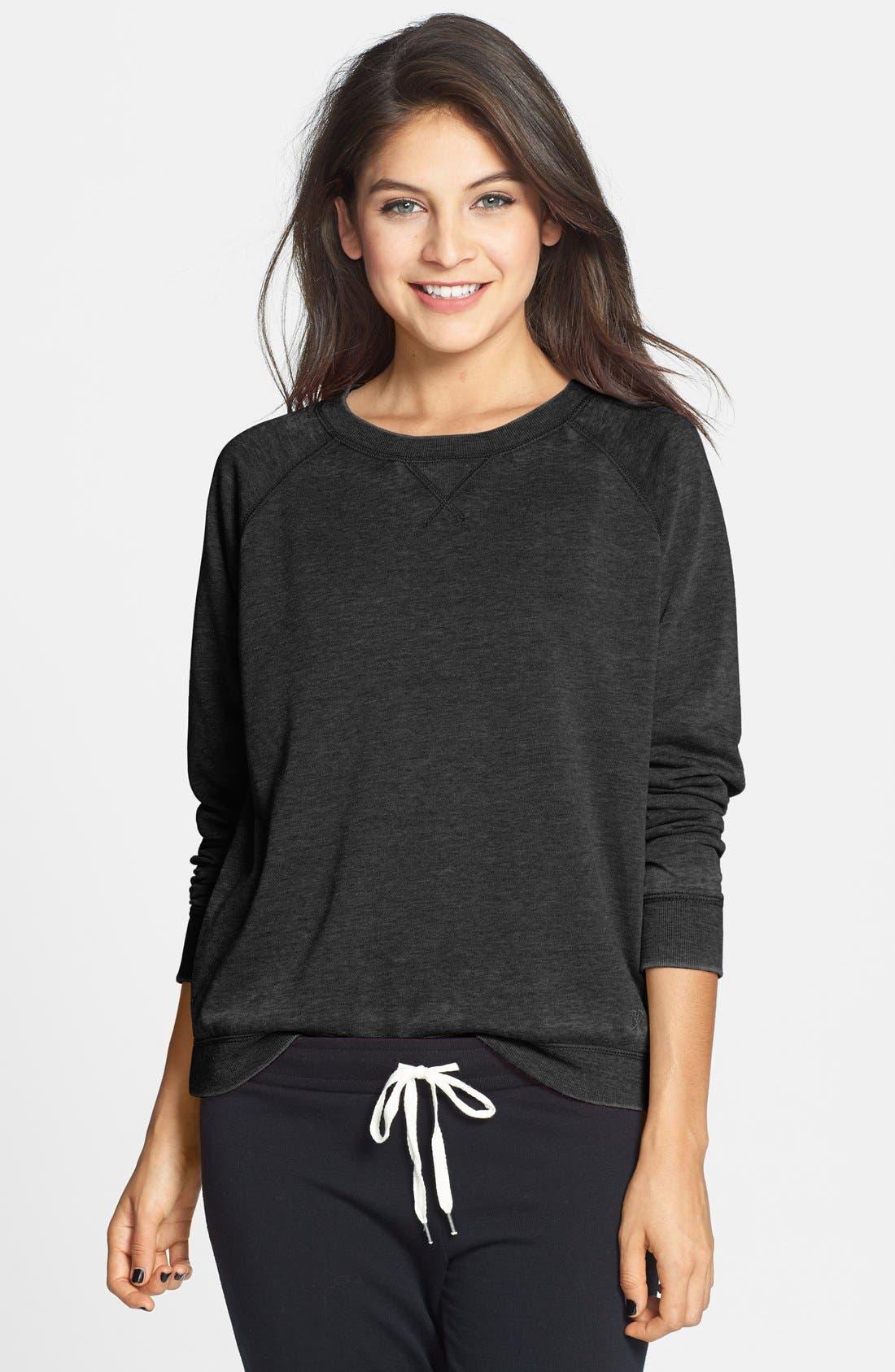 Alternate Image 1 Selected - BP. Undercover 'Gym Class' Crewneck Sweatshirt (Juniors)