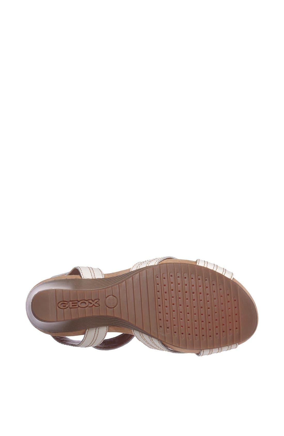 Alternate Image 4  - Geox 'Roxy' Mid Wedge Sandal (Women)