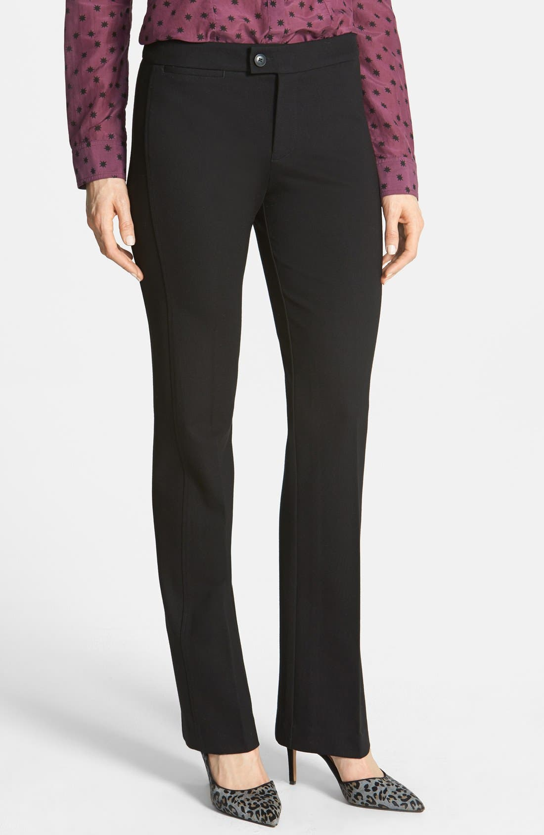 Alternate Image 1 Selected - NYDJ Stretch Ponte Knit Trousers (Petite)