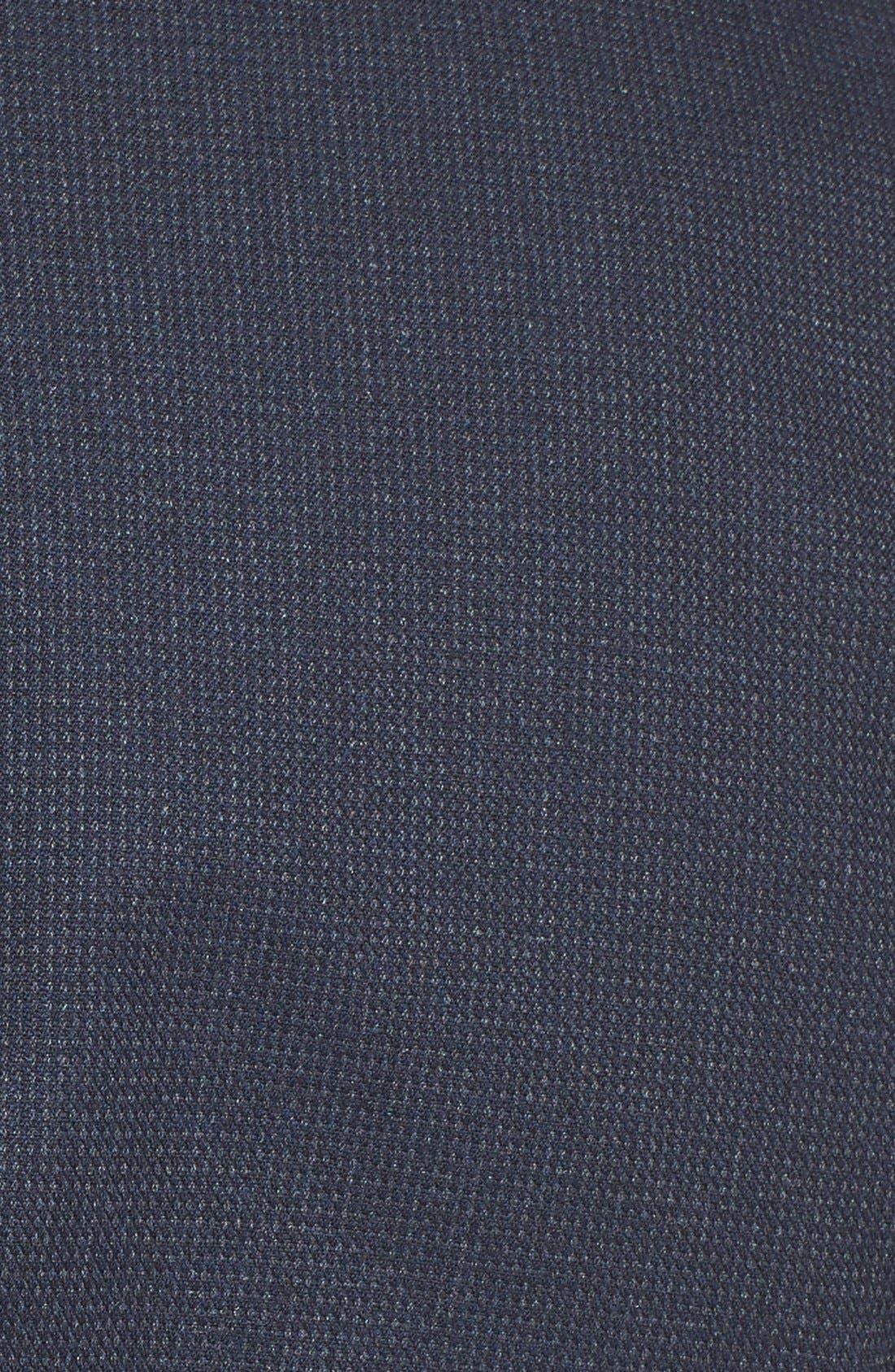 Alternate Image 3  - Topman Navy Pin Dot Skinny Fit Suit Jacket