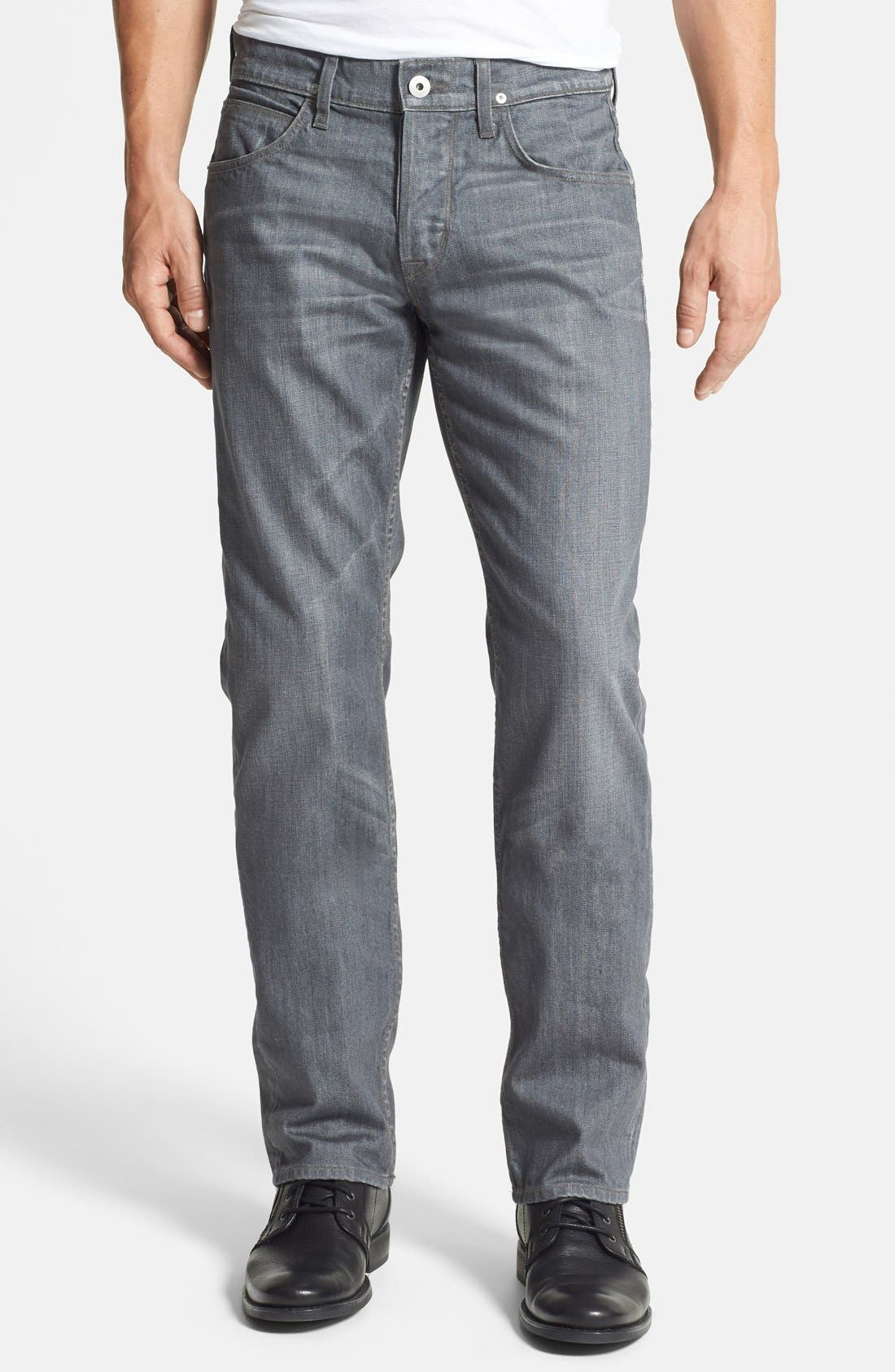 Alternate Image 1 Selected - Hudson Jeans 'Byron' Straight Leg Jeans (Grey Rider)