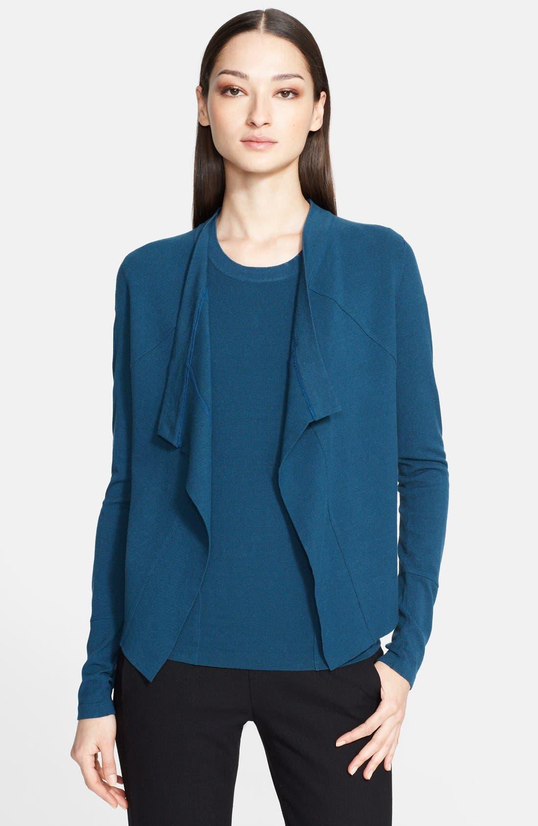 Main Image - Donna Karan Collection Drape Front Jacket