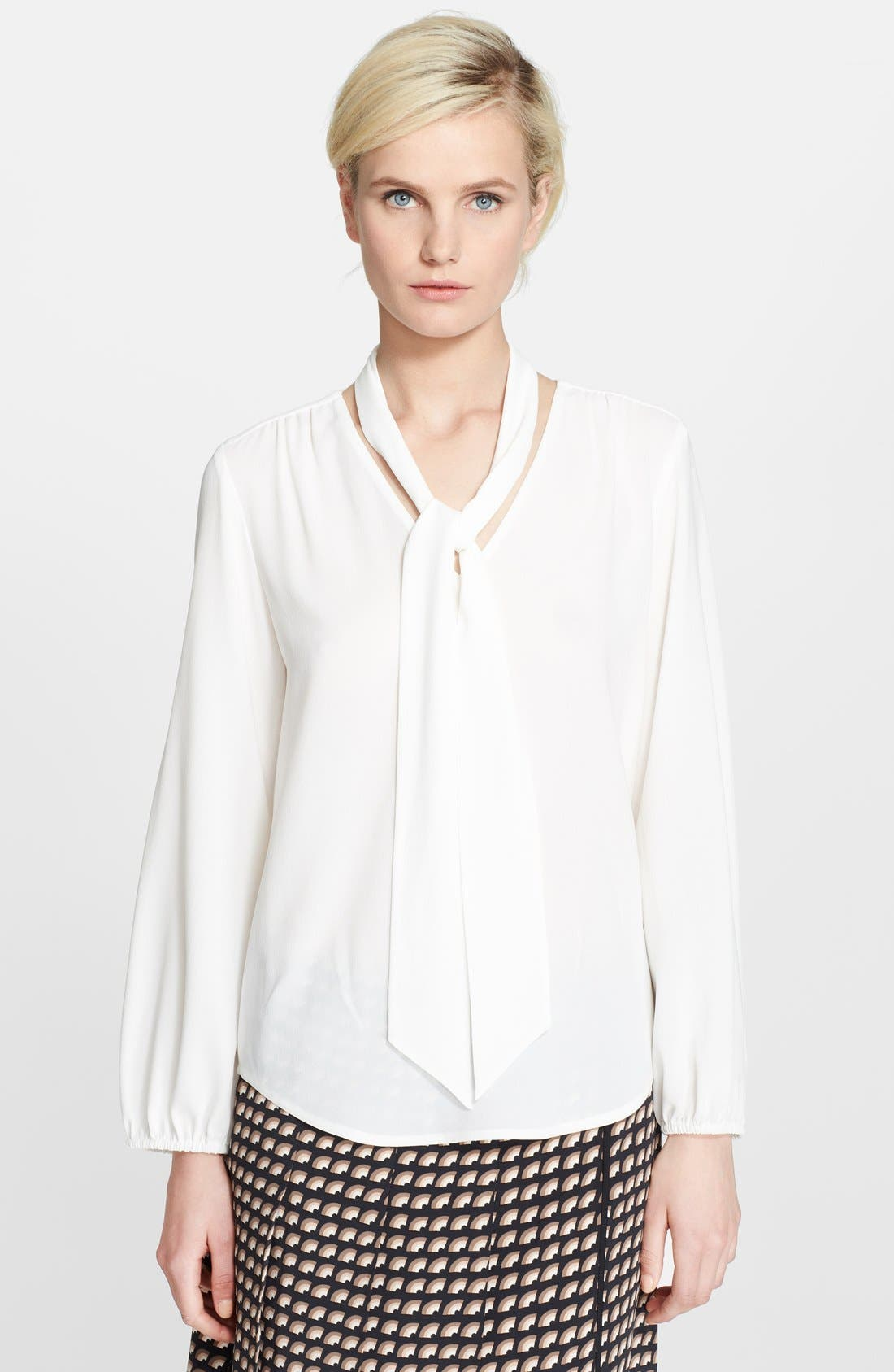 Alternate Image 1 Selected - MARC JACOBS Button Front Silk Blouse