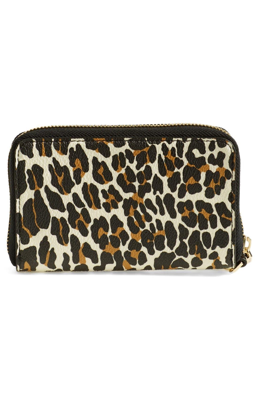 Alternate Image 3  - Tory Burch 'Plaque' Leopard Print Smartphone Wristlet