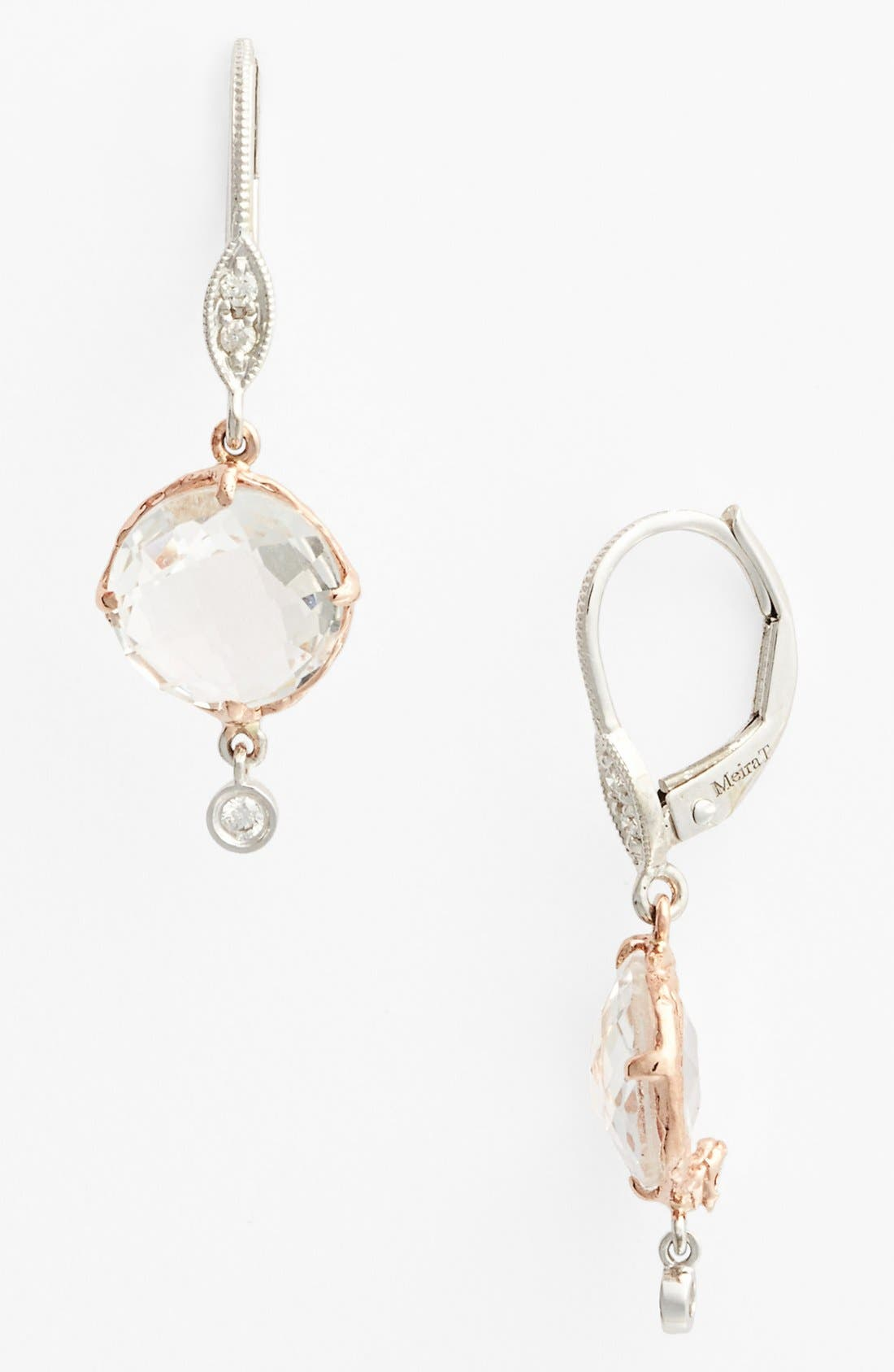 Alternate Image 1 Selected - MeiraT Semiprecious Stone & Diamond Drop Earrings