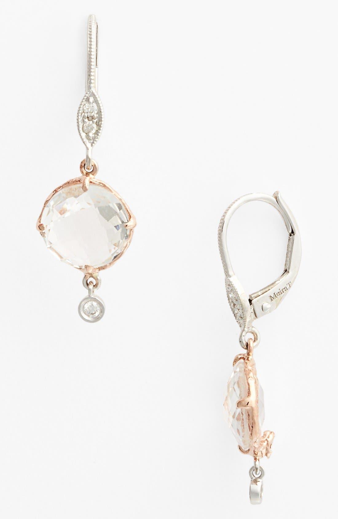 Main Image - MeiraT Semiprecious Stone & Diamond Drop Earrings