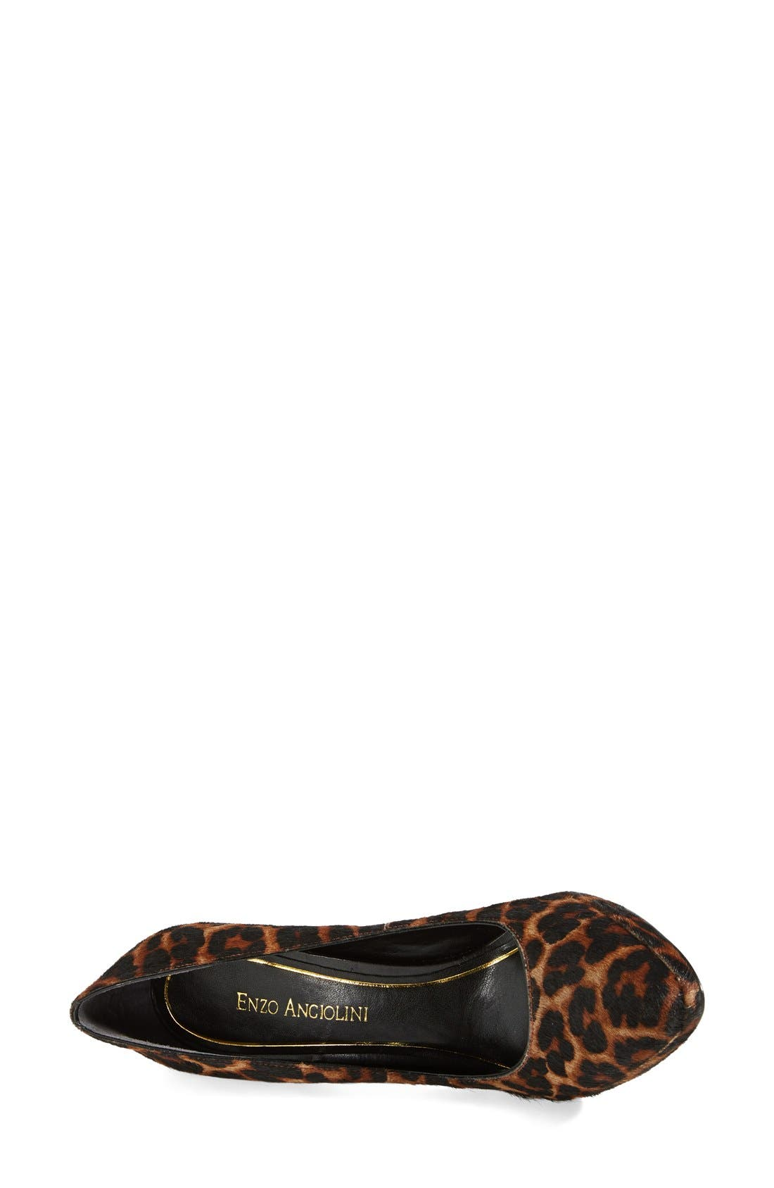 Alternate Image 3  - Enzo Angiolini 'Samendra' Cheetah Spot Calf Hair Platform Pump (Women)