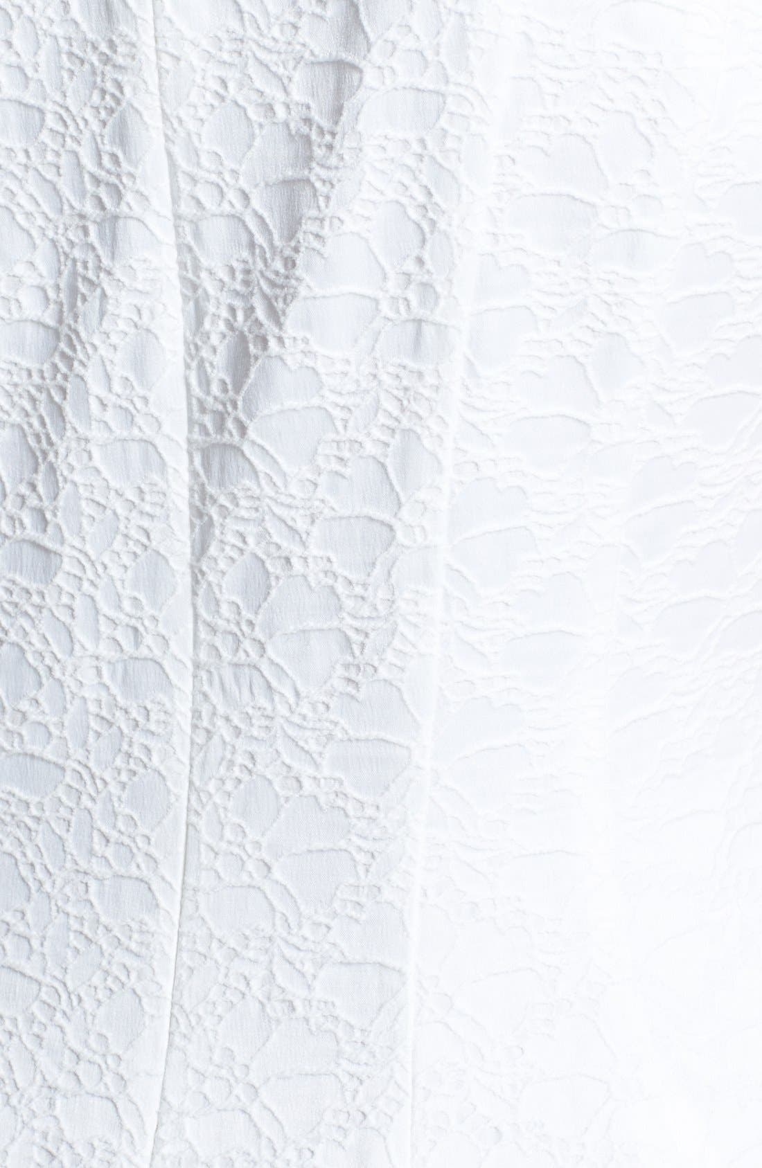 Alternate Image 4  - Eliza J Jacquard Cotton Blend Fit & Flare Dress