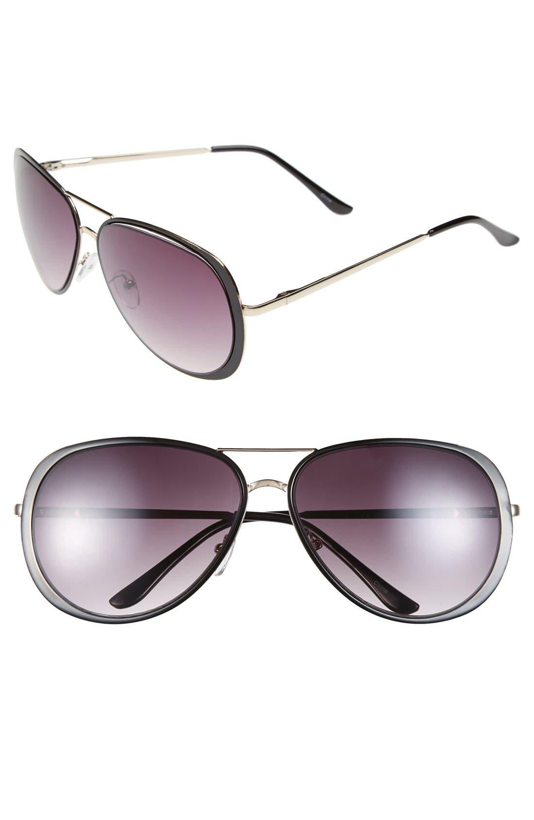 Alternate Image 1 Selected - Icon Eyewear 60mm Metal Aviator Sunglasses
