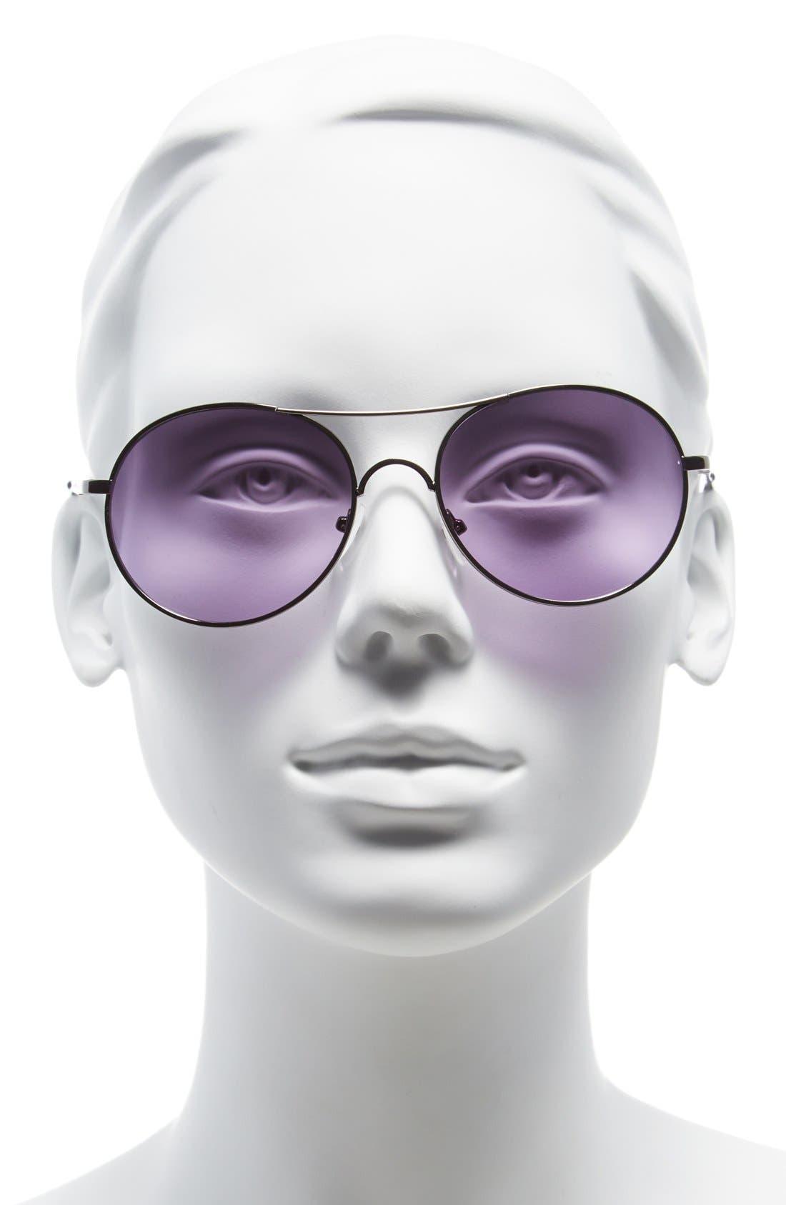 Alternate Image 2  - Icon Eyewear 53mm Metal Aviator Sunglasses