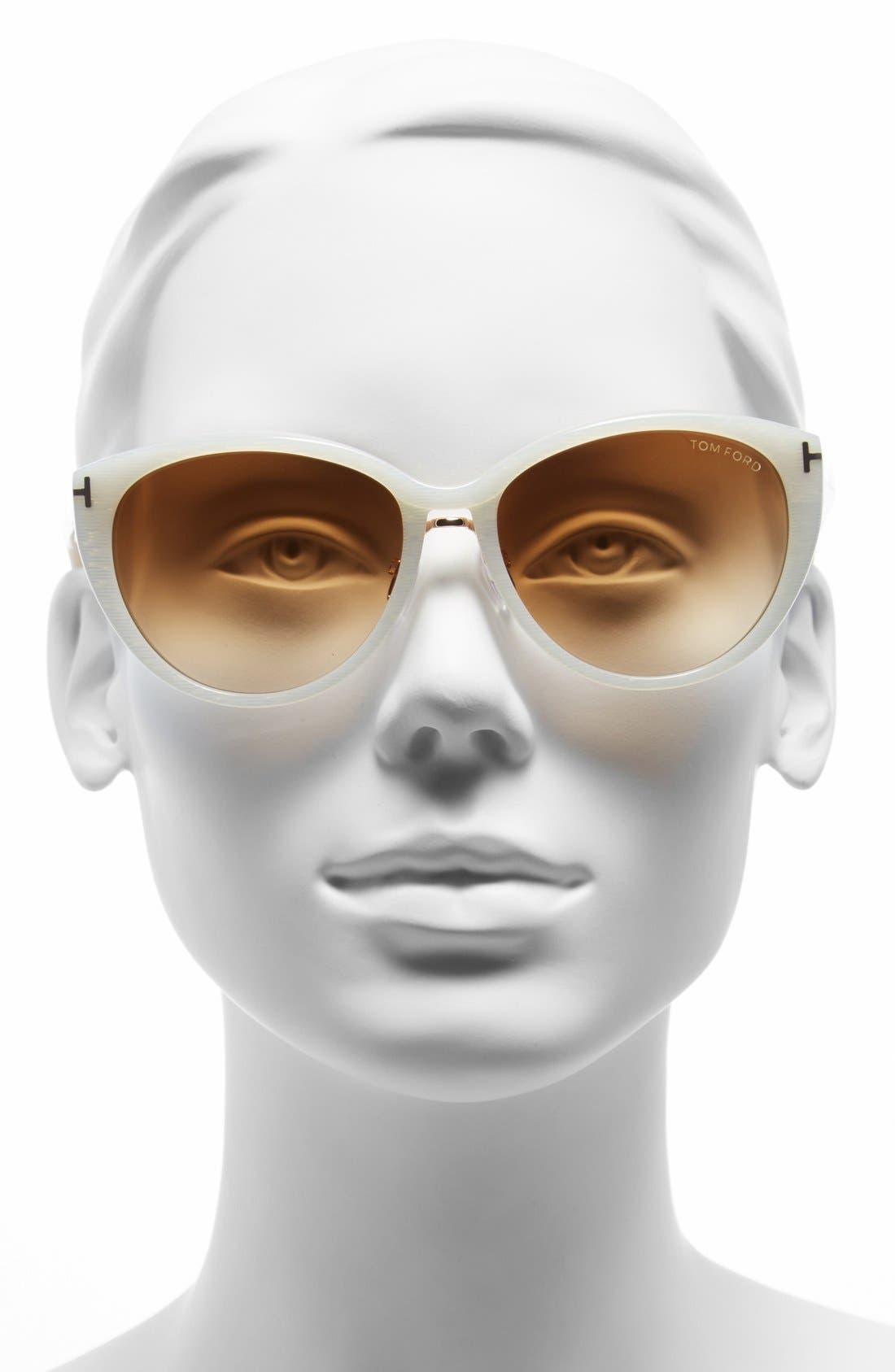 Alternate Image 2  - Tom Ford 'Gina' 57mm Cat Eye Sunglasses