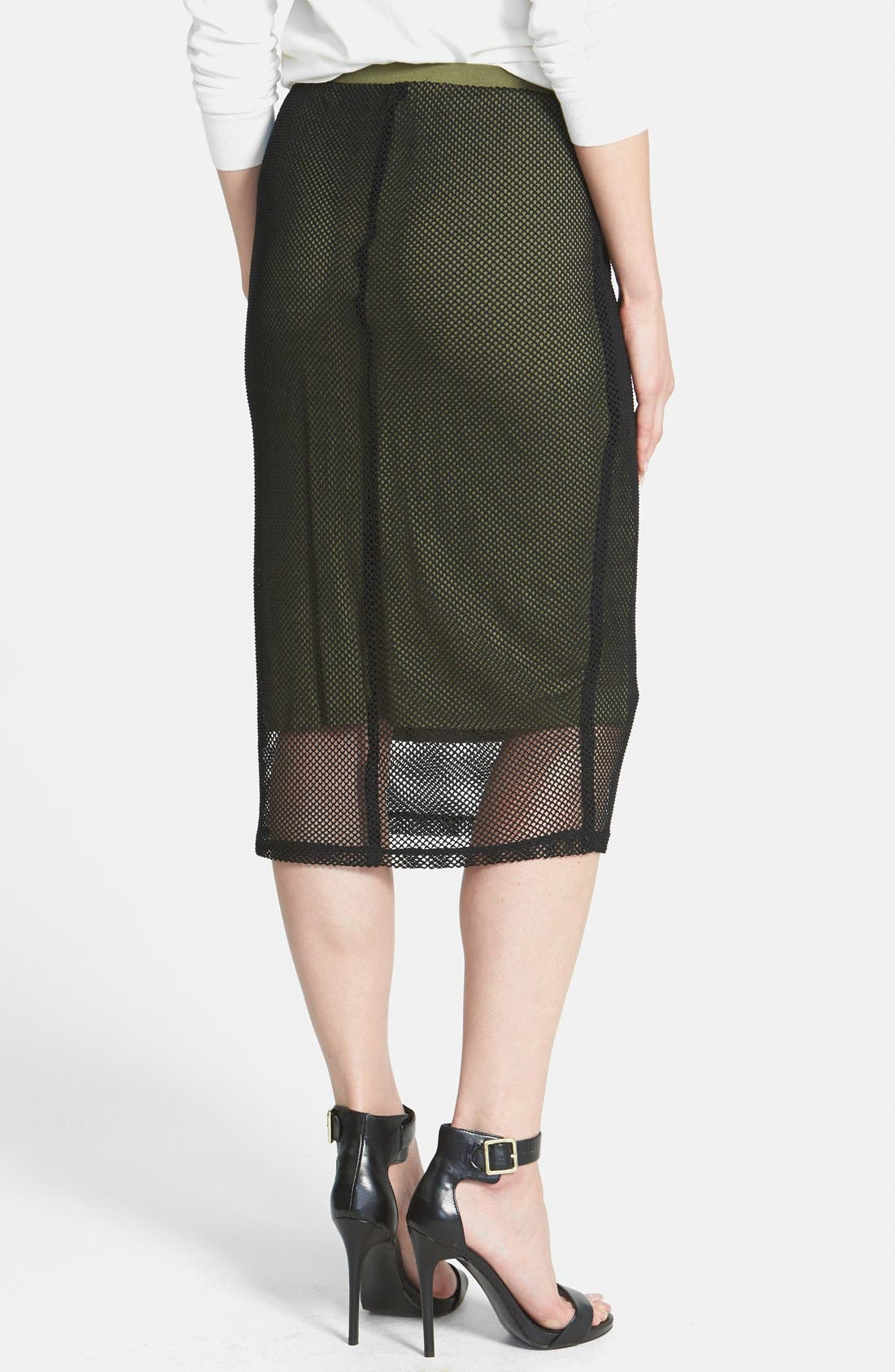 Alternate Image 2  - Bobeau Crochet Mesh Skirt
