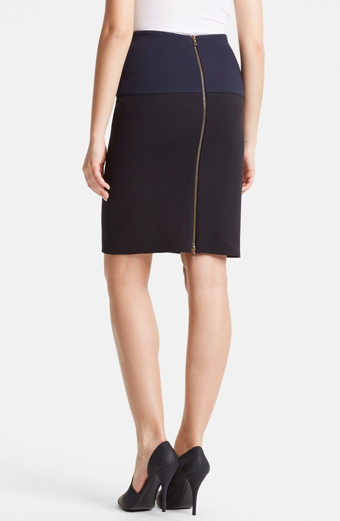 Alternate Image 2  - Lanvin Two-Tone Pencil Skirt