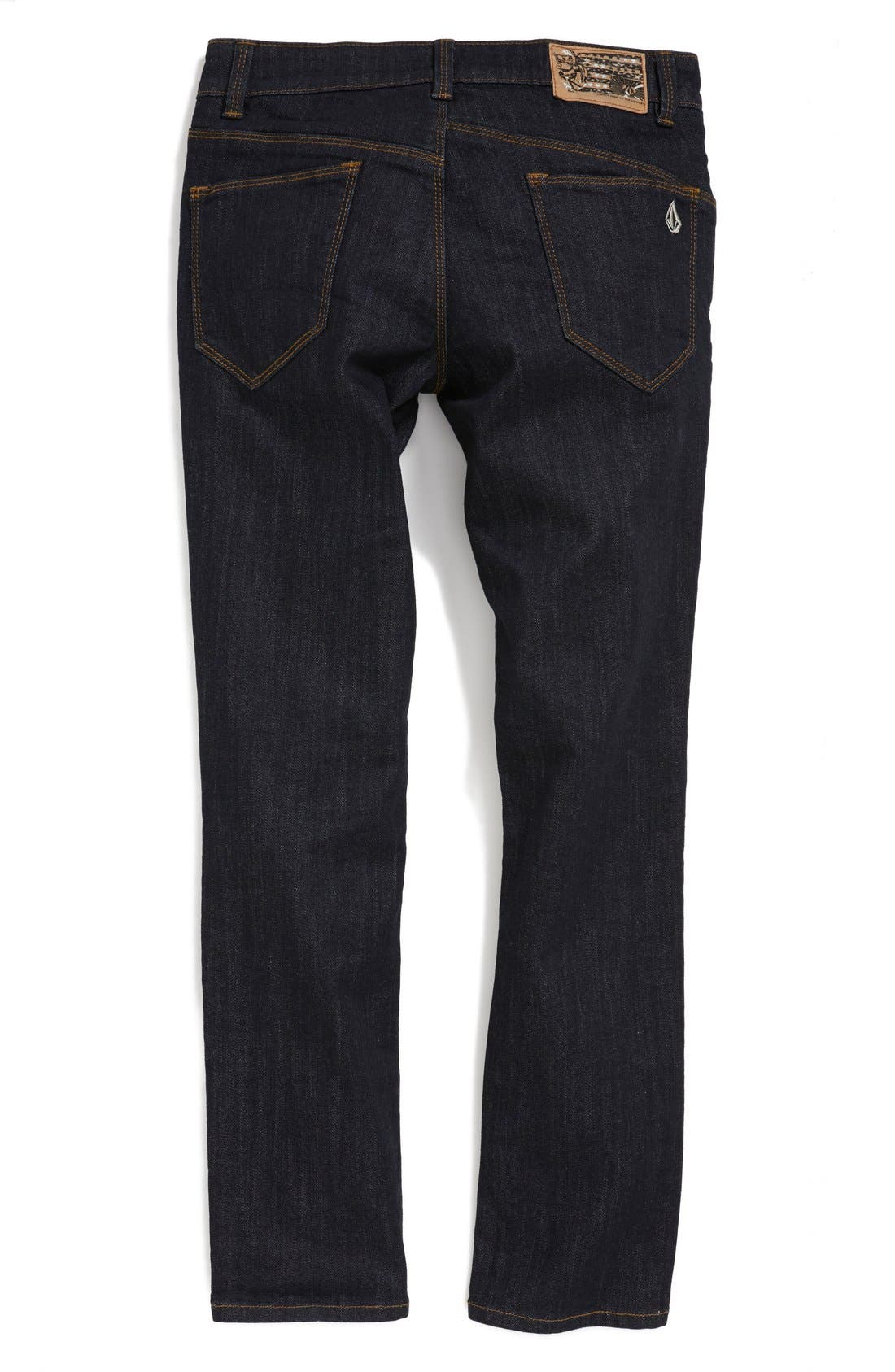 Alternate Image 2  - Volcom 'Riser' Skinny Straight Leg Jeans (Big Boys)