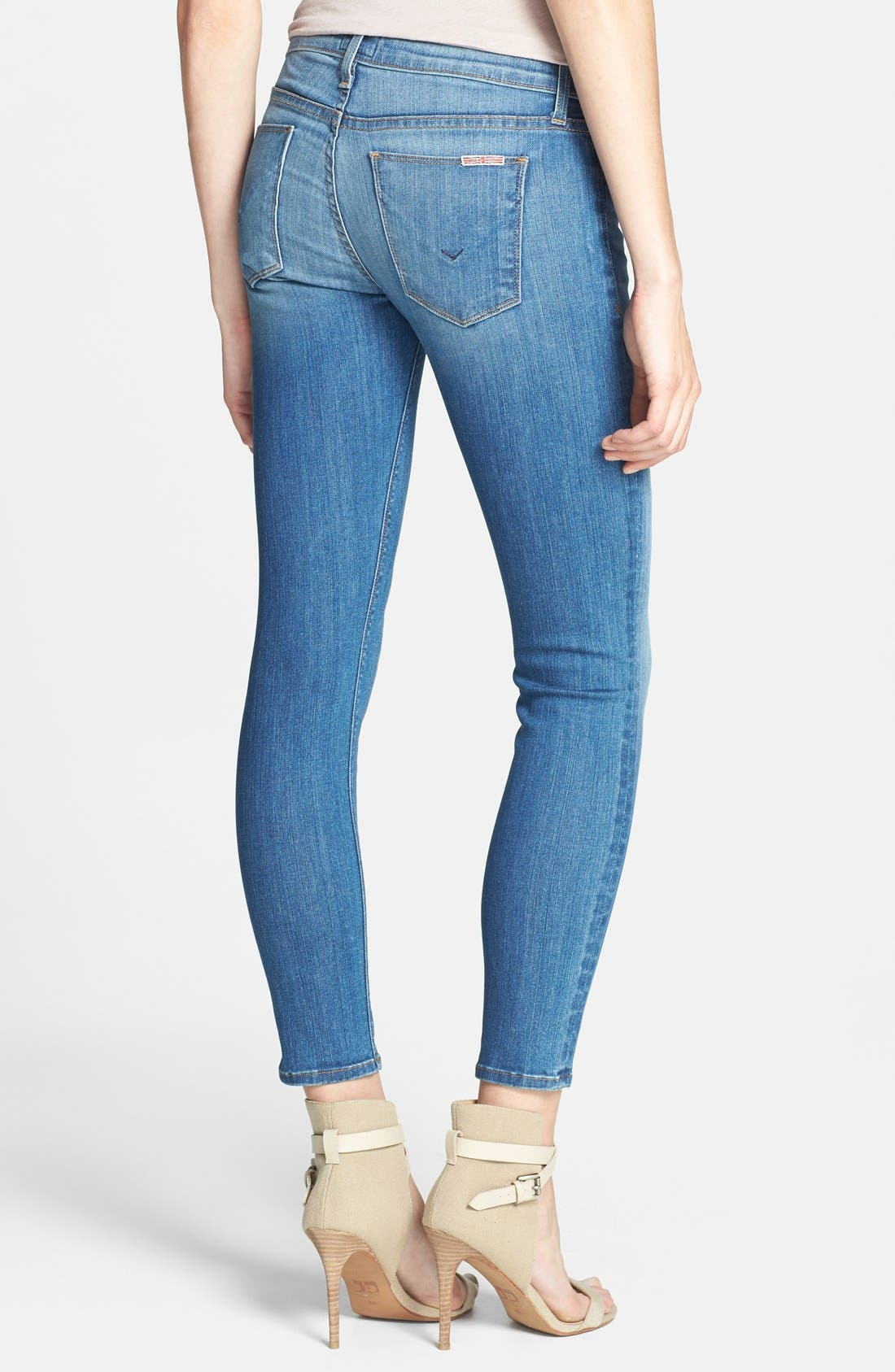 Alternate Image 2  - Hudson Jeans 'Krista' Crop Super Skinny Jeans (Worship Me)
