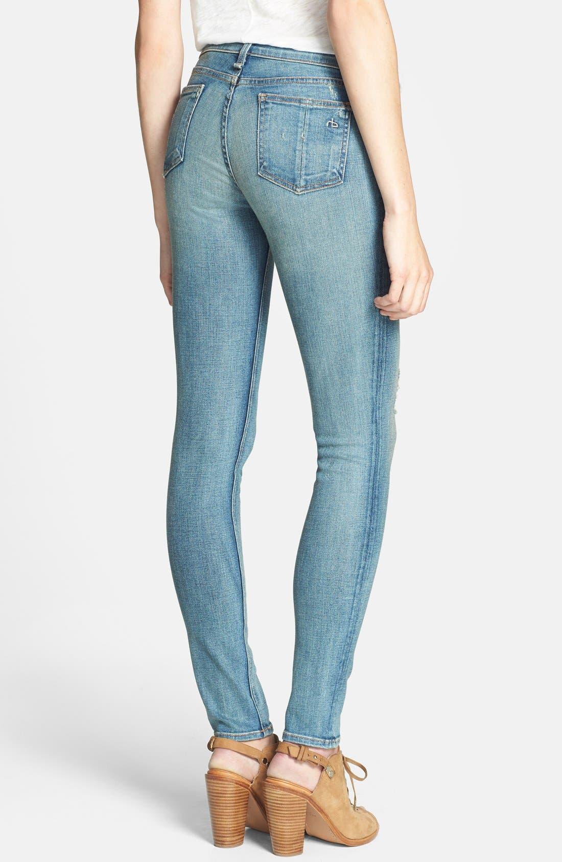Alternate Image 2  - rag & bone/JEAN Stretch Skinny Jeans