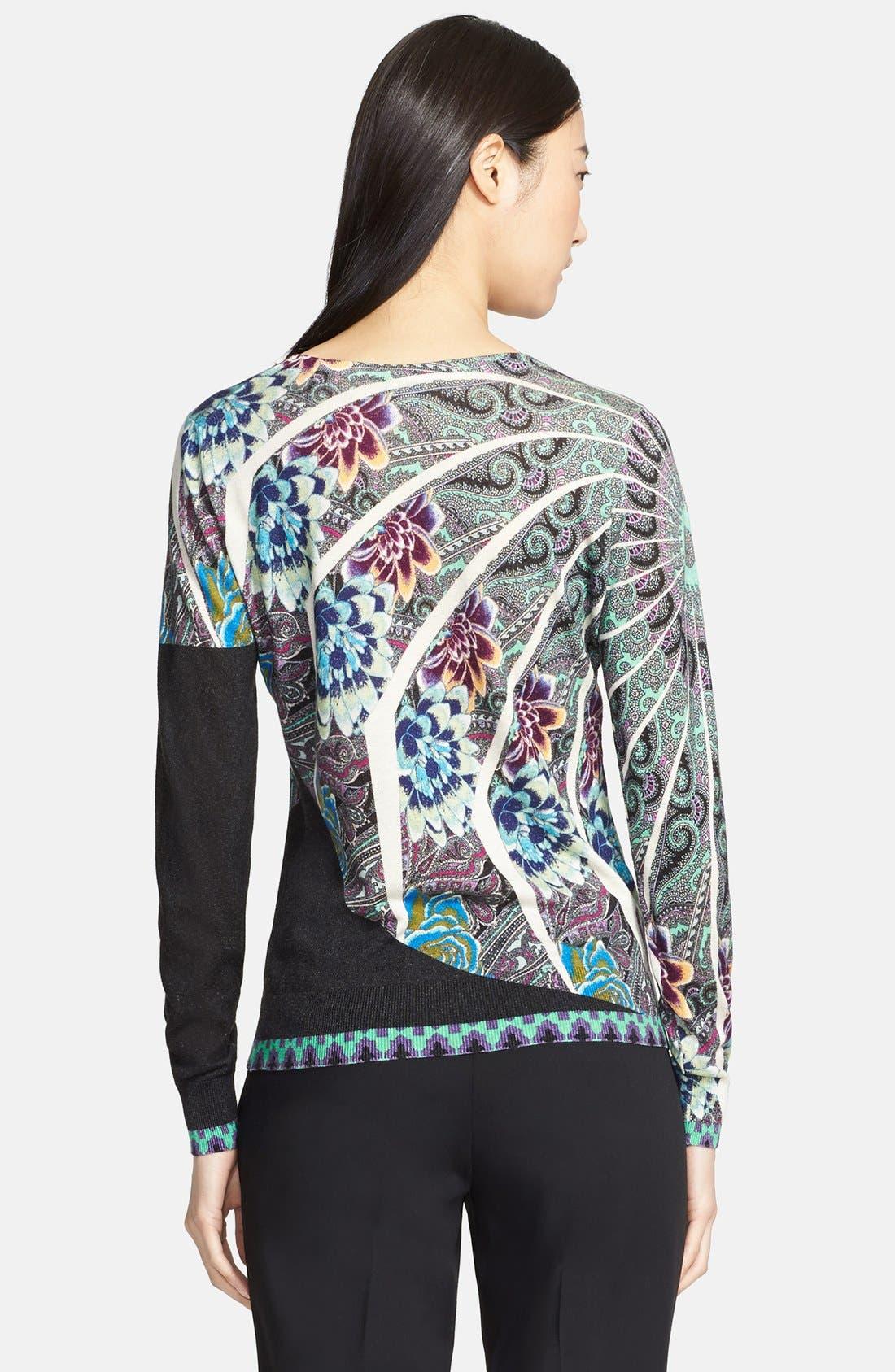 Alternate Image 2  - Etro Floral Mandala Print Silk & Cashmere Top