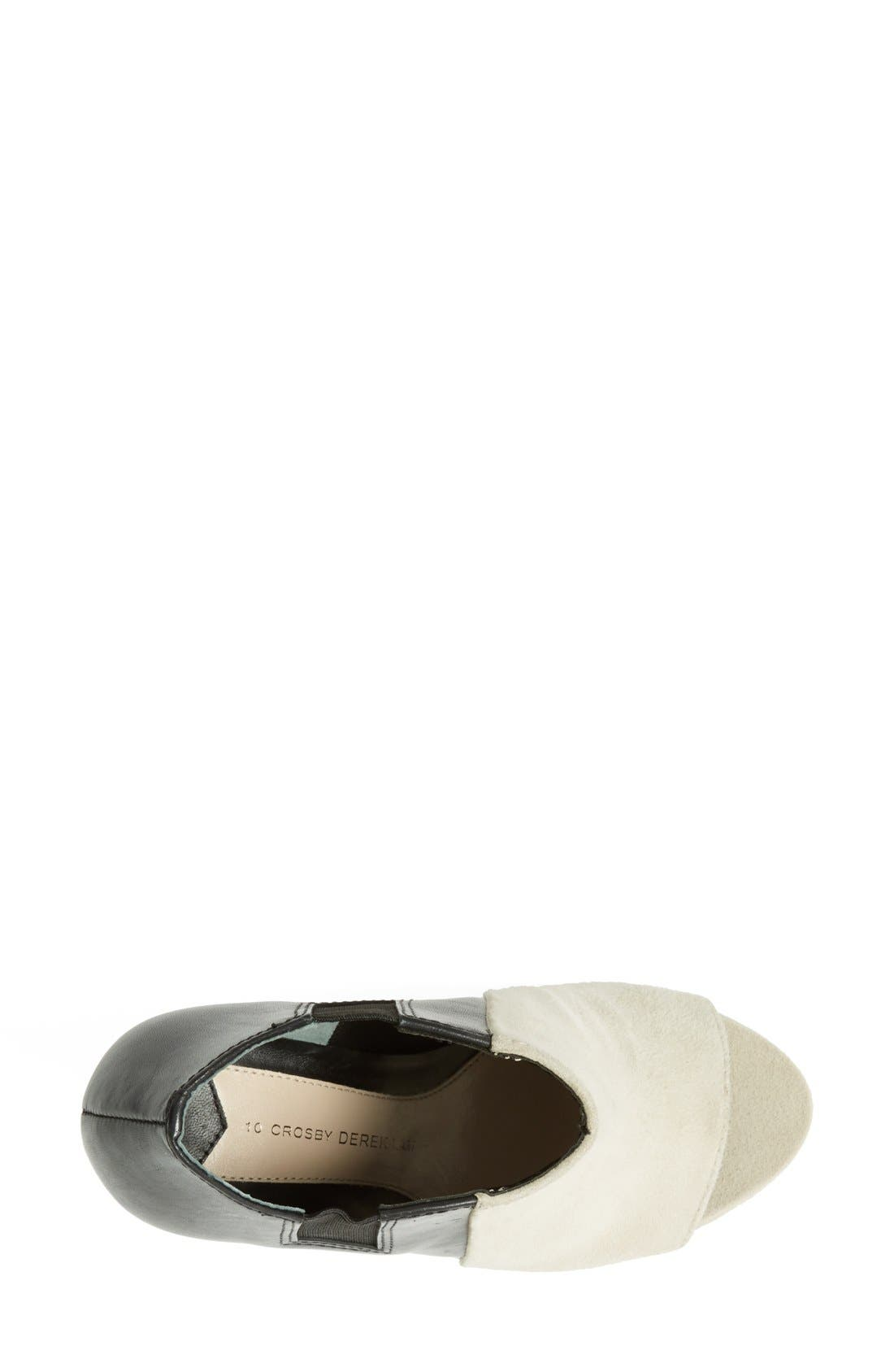 Alternate Image 3  - Derek Lam 10 Crosby 'Gerri' Leather & Suede Open Toe Wedge Bootie