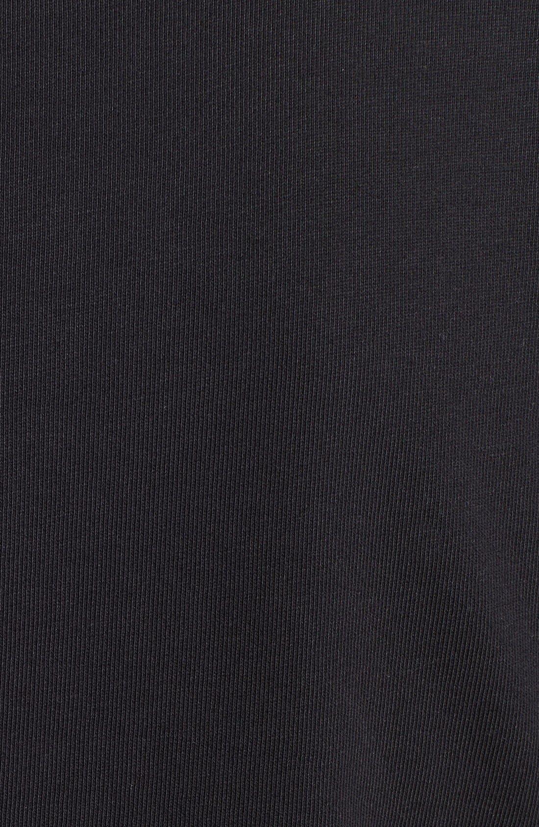 Alternate Image 3  - Vince Faux Leather Shoulder Trim Sweatshirt