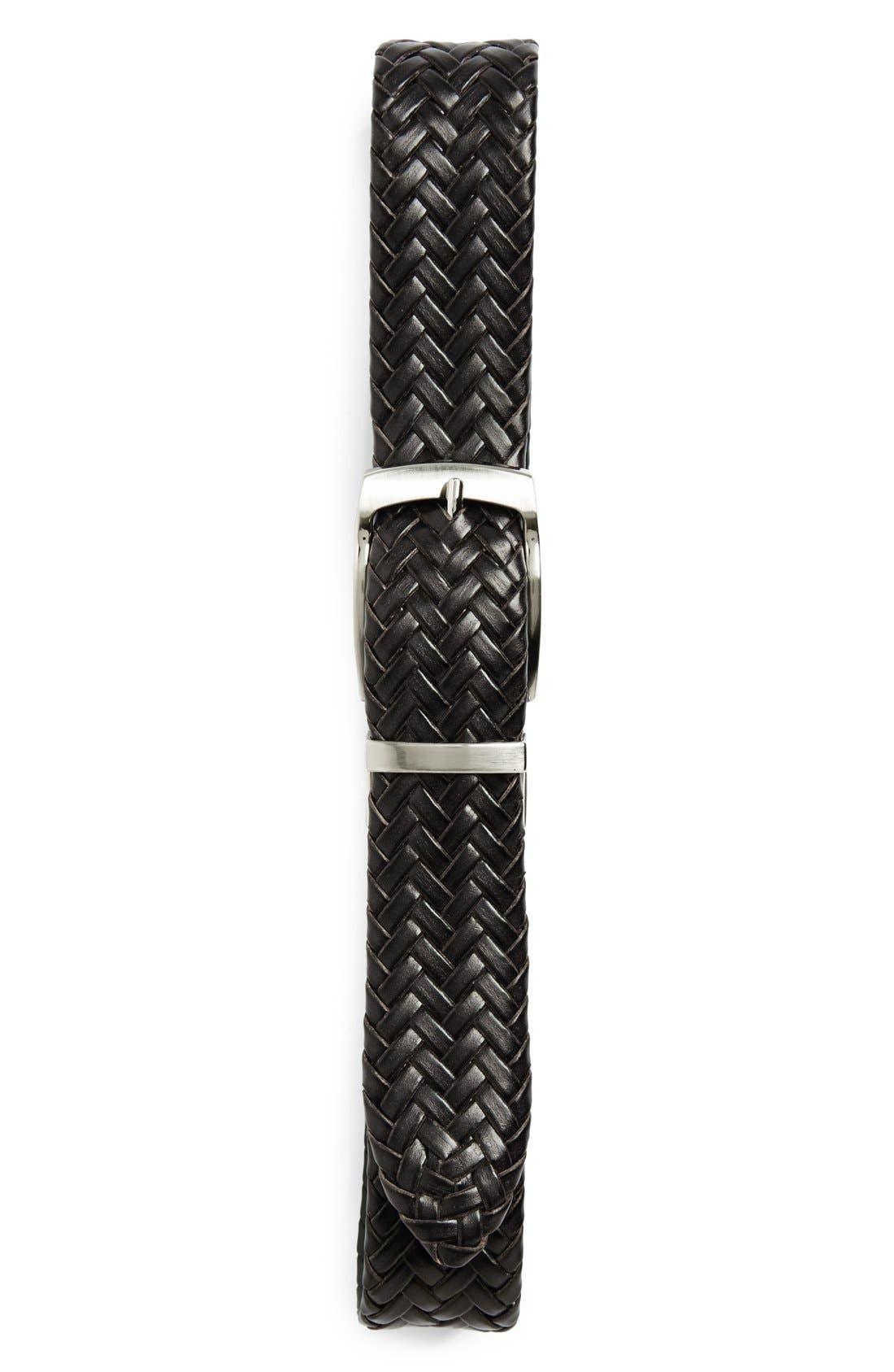 Nordstrom Reversible Braided Leather Belt (Big Boys)