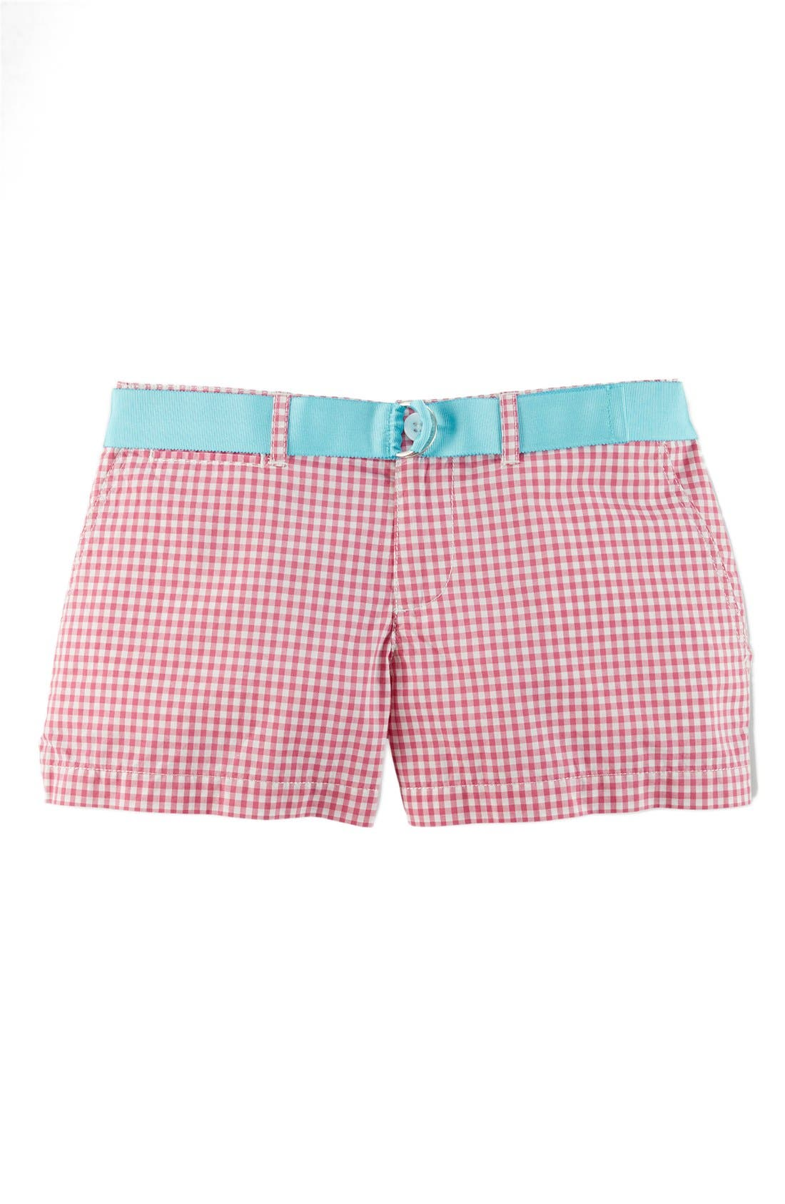 Alternate Image 1 Selected - Ralph Lauren Gingham Cotton Poplin Shorts (Big Girls)