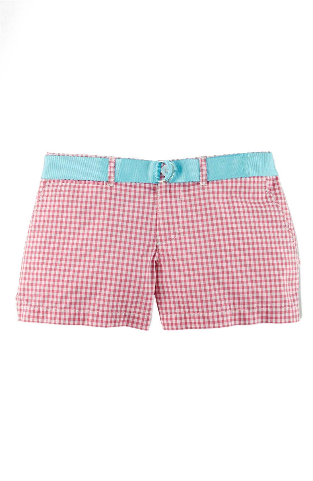 Main Image - Ralph Lauren Gingham Cotton Poplin Shorts (Big Girls)
