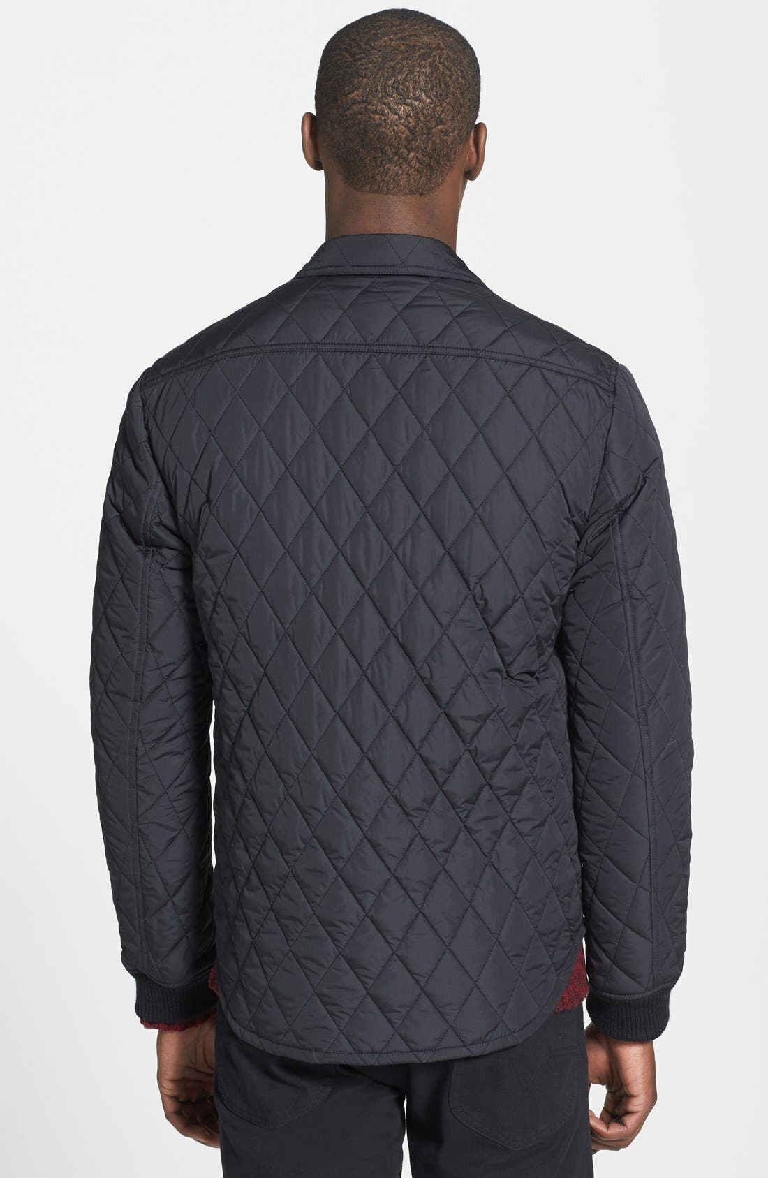 Alternate Image 2  - Vince 'CPO' Diamond Quilted Trim Fit Jacket