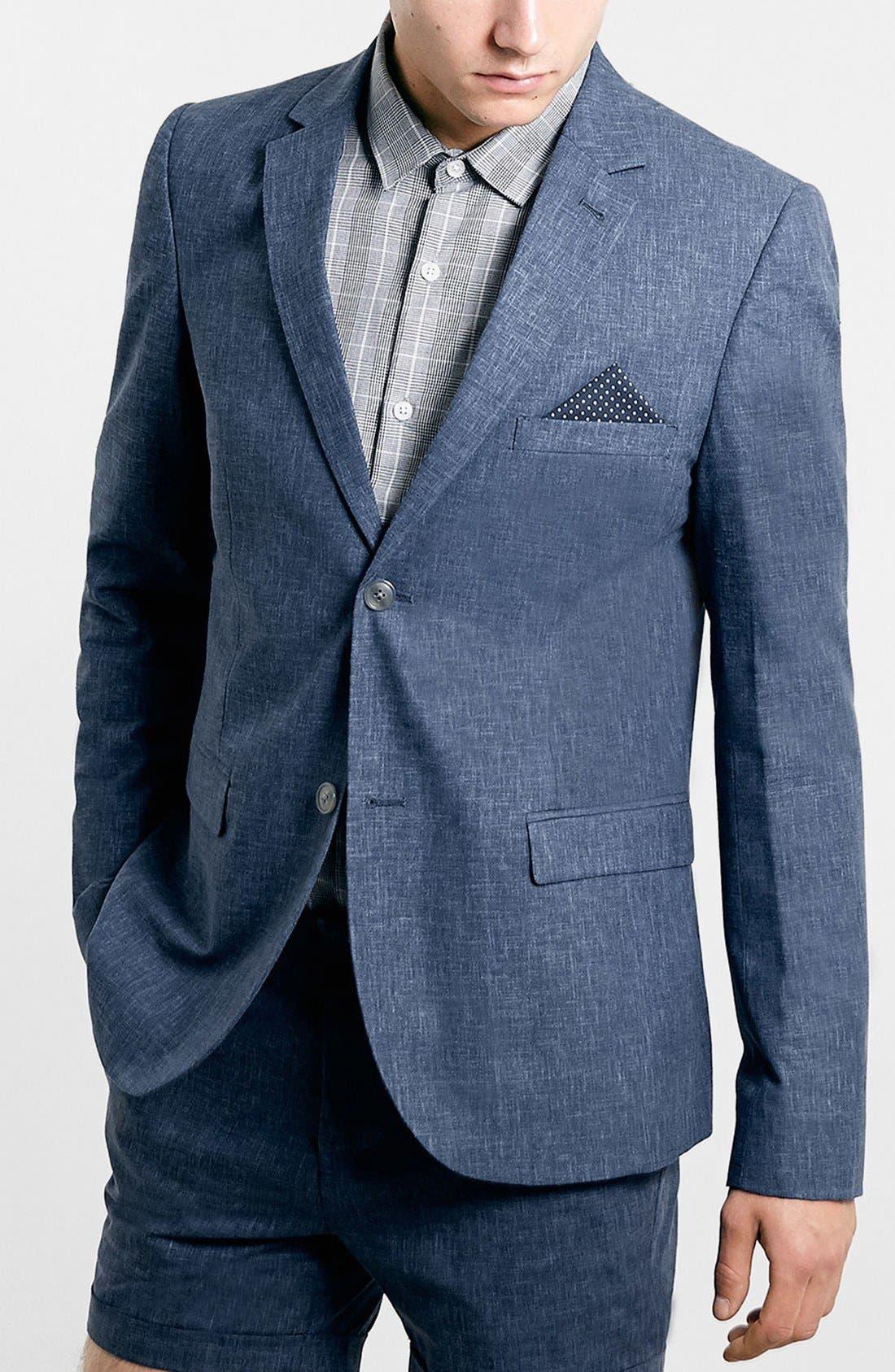 Alternate Image 1 Selected - Topman Indigo Sport Coat
