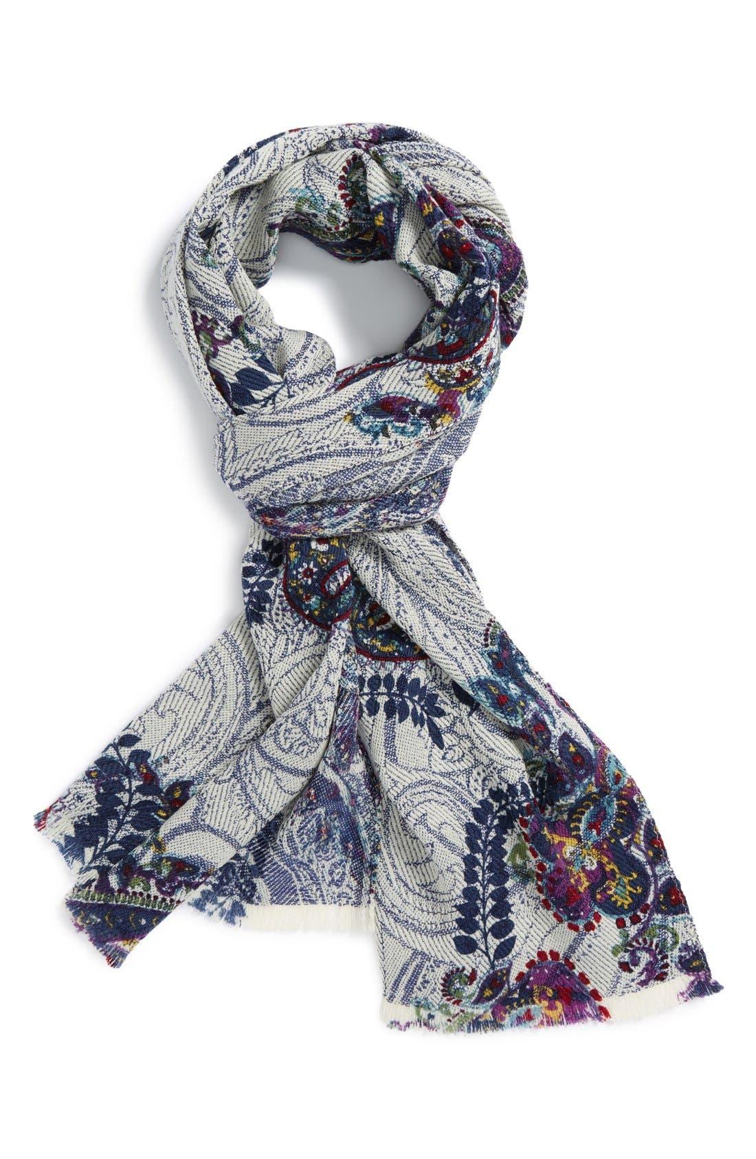Alternate Image 1 Selected - Etro Print Wool Knit Scarf