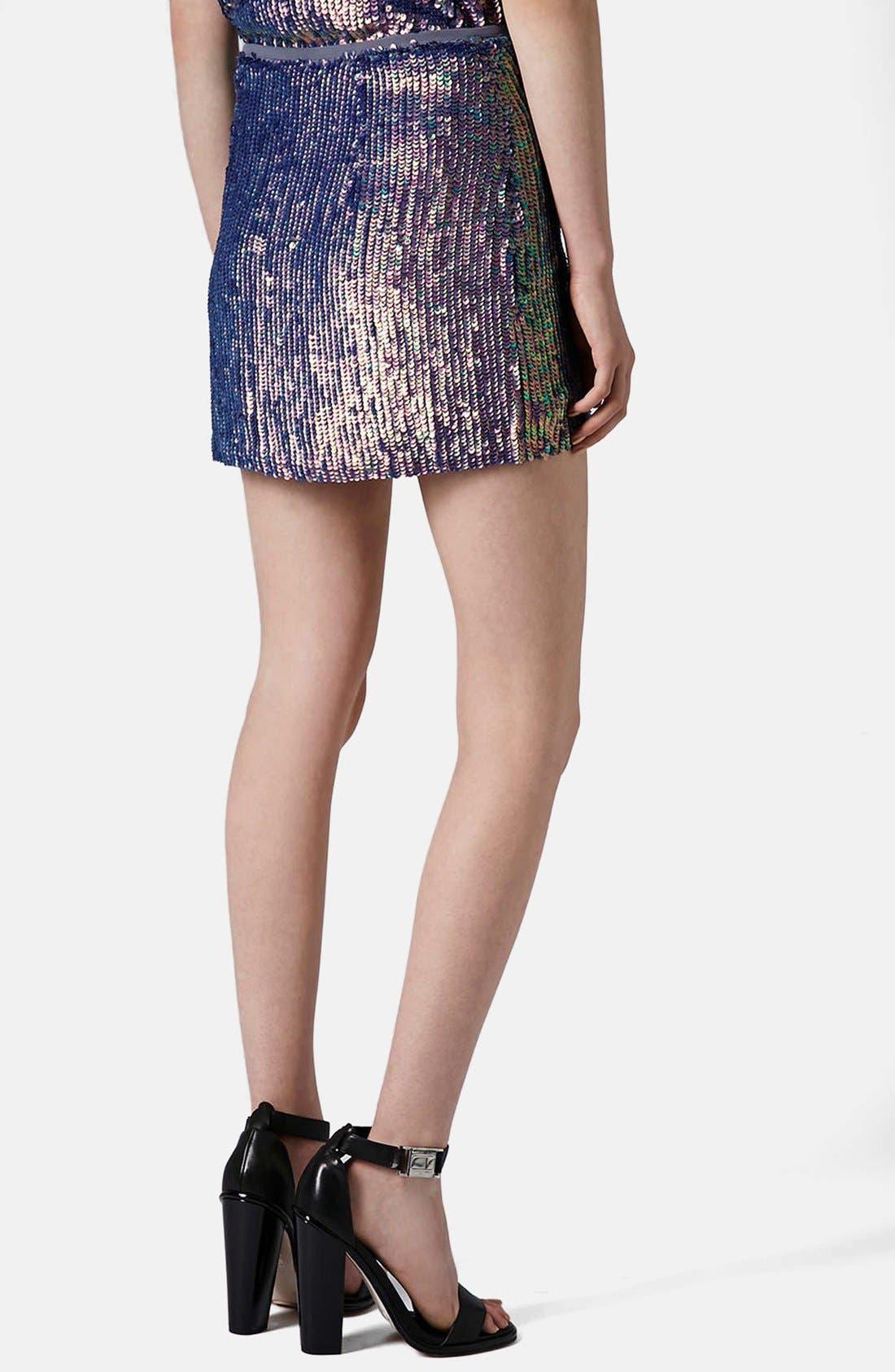 Alternate Image 2  - Topshop Sequin Miniskirt