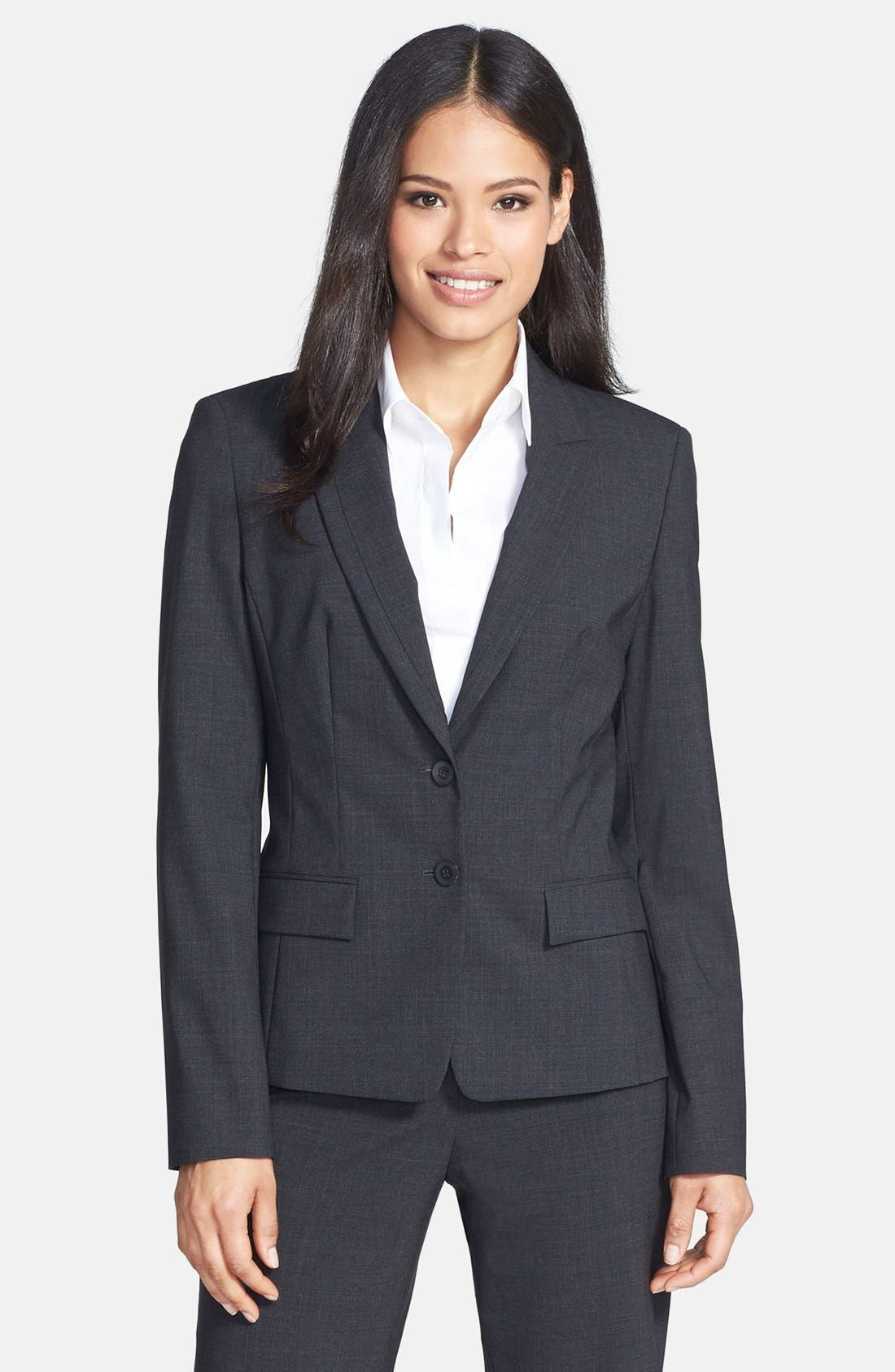 Main Image - BOSS 'Jaellesa' Stretch Wool Jacket
