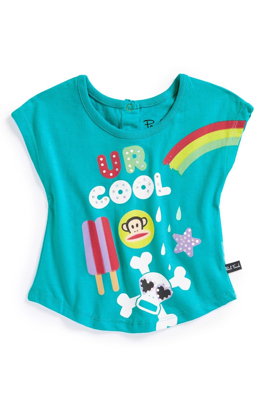 Alternate Image 1 Selected - Paul Frank 'U R Cool' Graphic Tee (Baby Girls)
