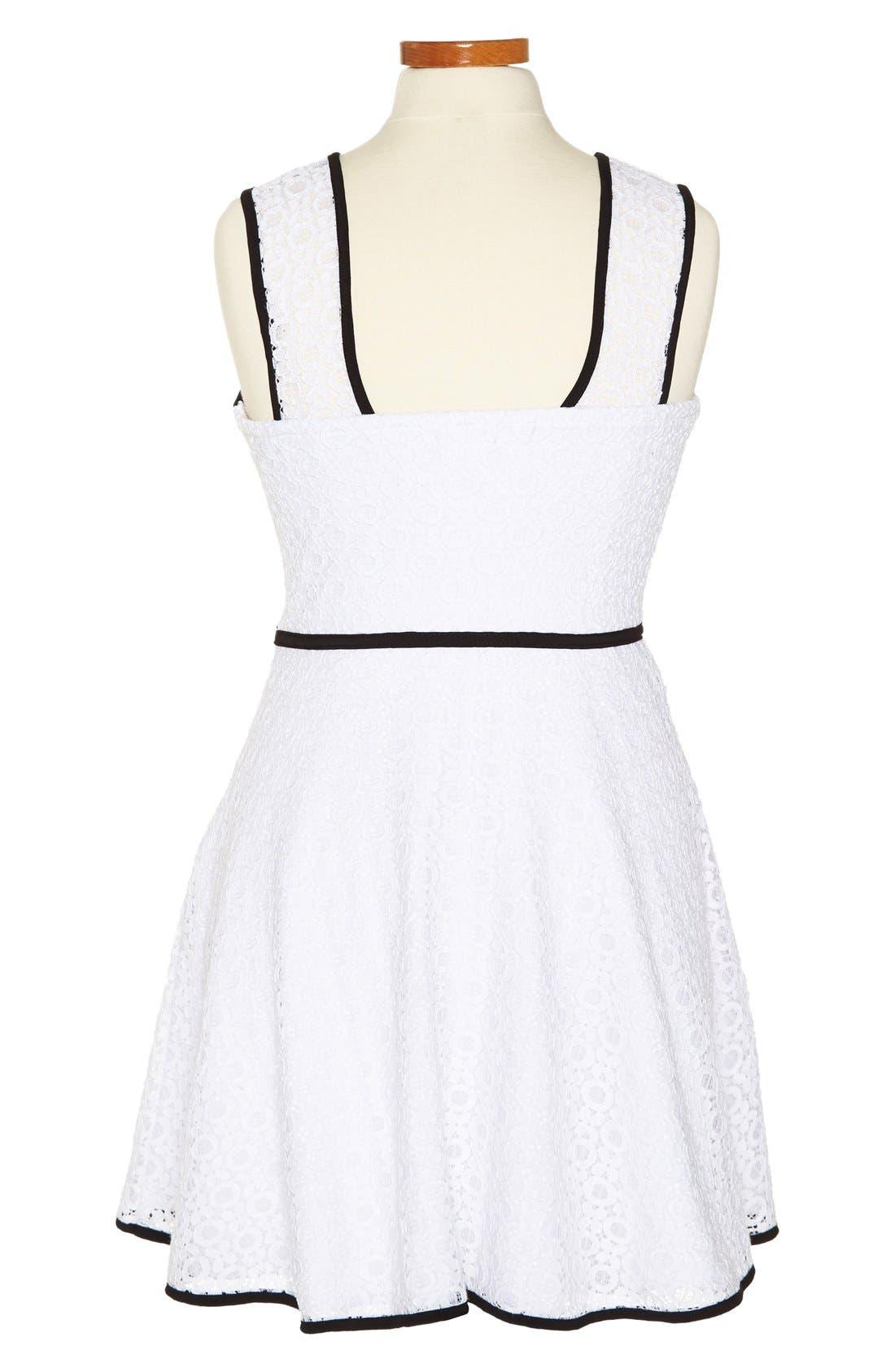 Alternate Image 2  - Sally Miller 'XO' Lace Dress (Big Girls)