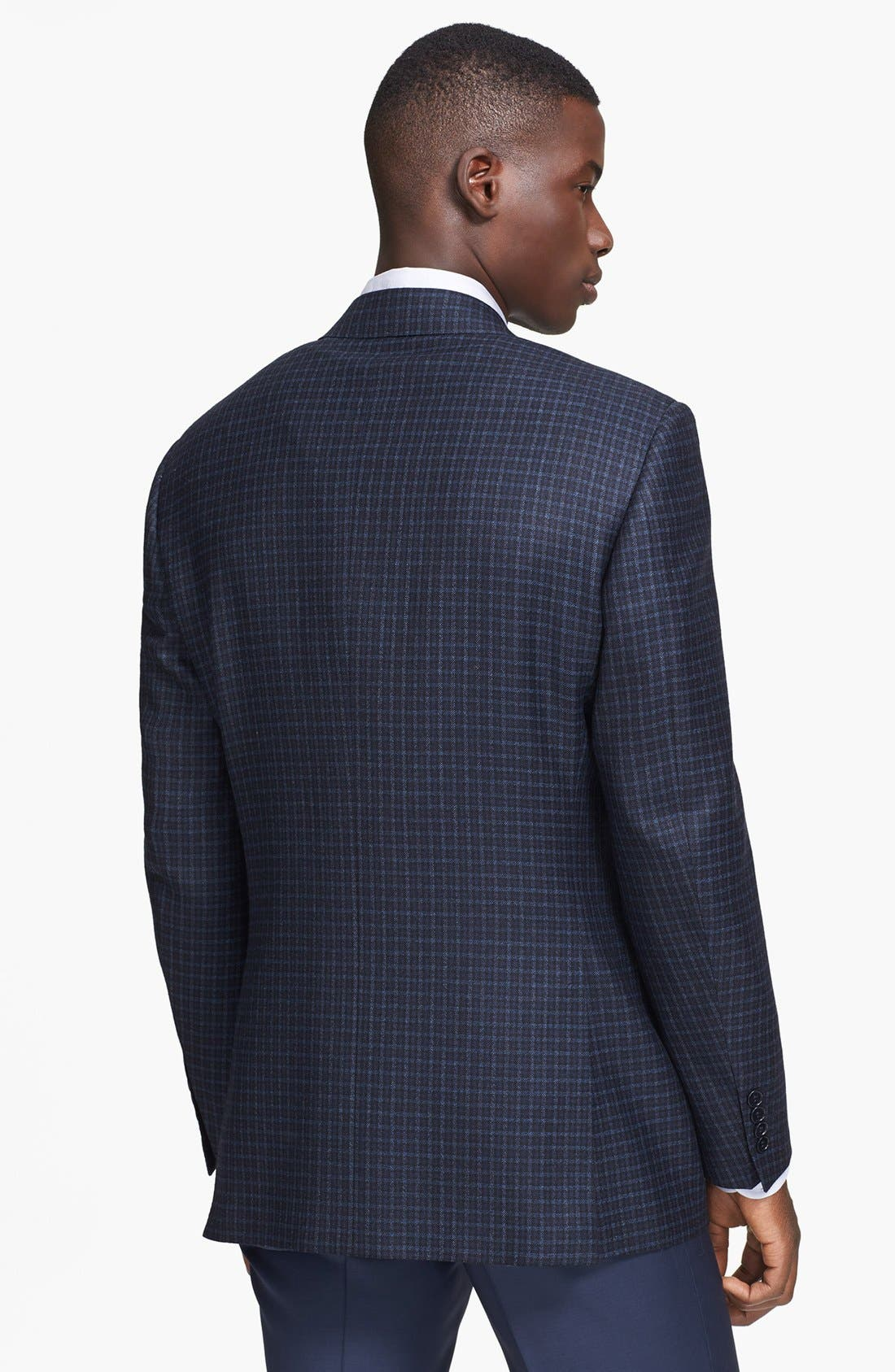 Alternate Image 2  - Canali Classic Fit Check Sport Coat