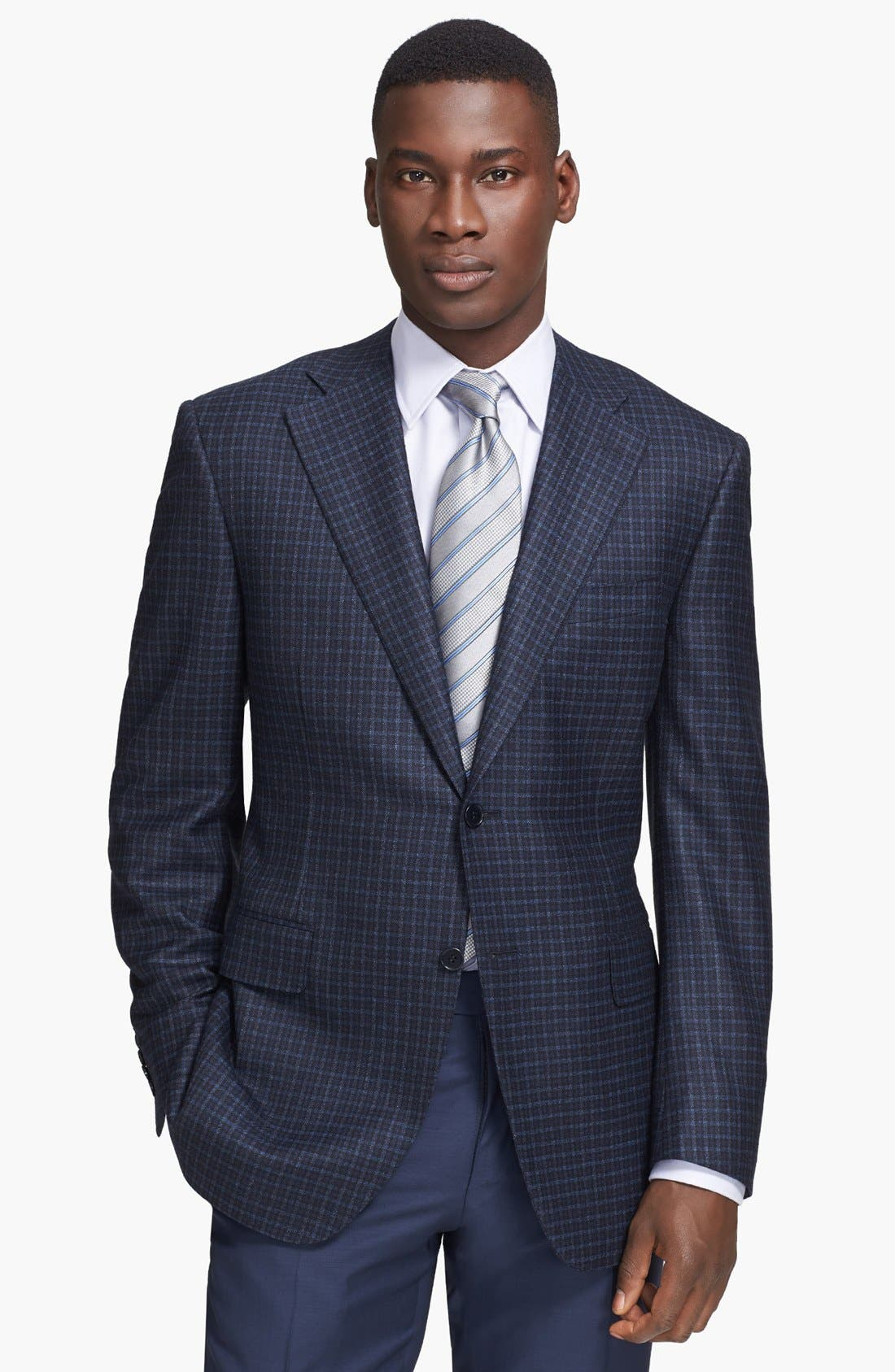 Alternate Image 1 Selected - Canali Classic Fit Check Sport Coat
