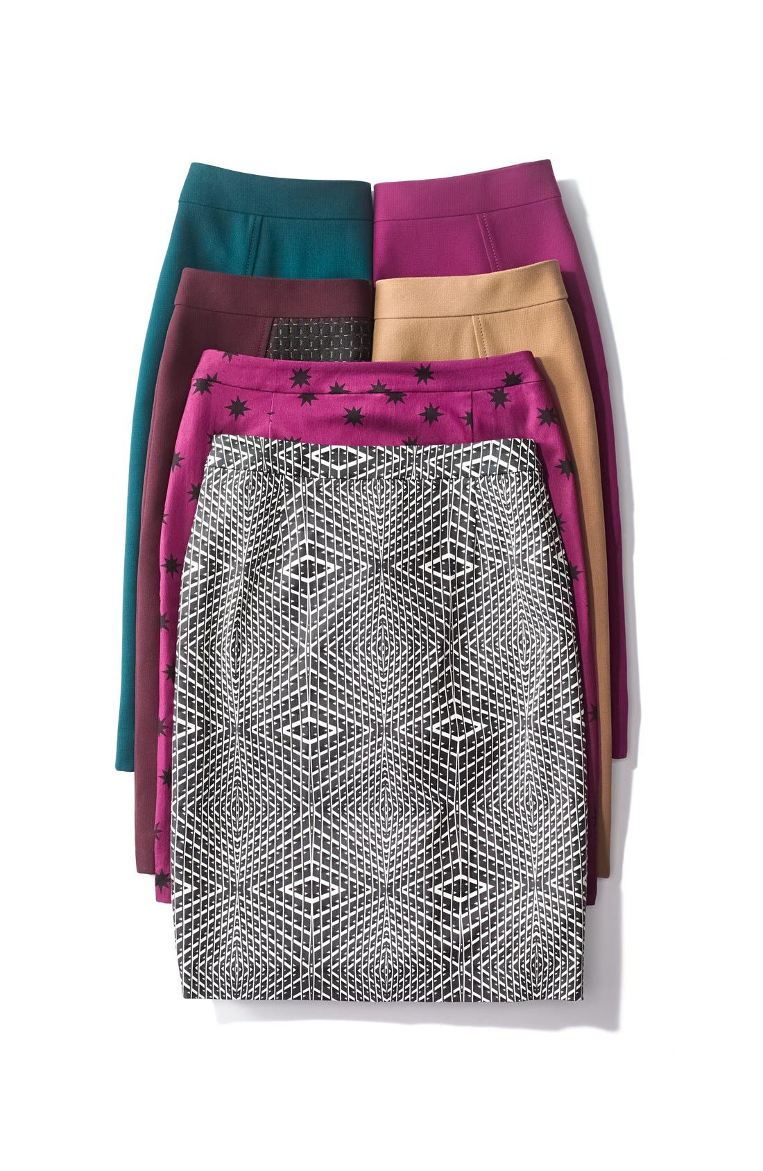 Alternate Image 6  - Halogen® Seamed Pencil Skirt (Regular & Petite)