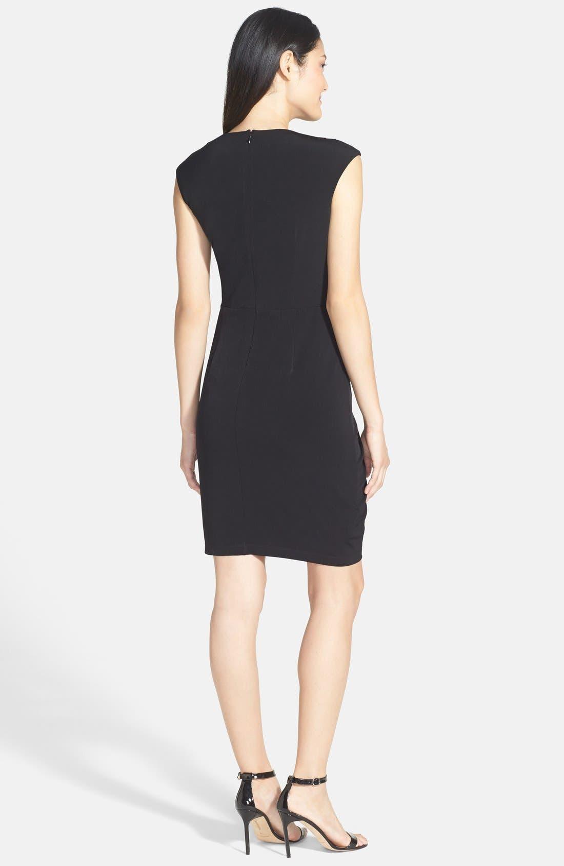 Alternate Image 2  - Ivy & Blu Side Gather Jersey Dress