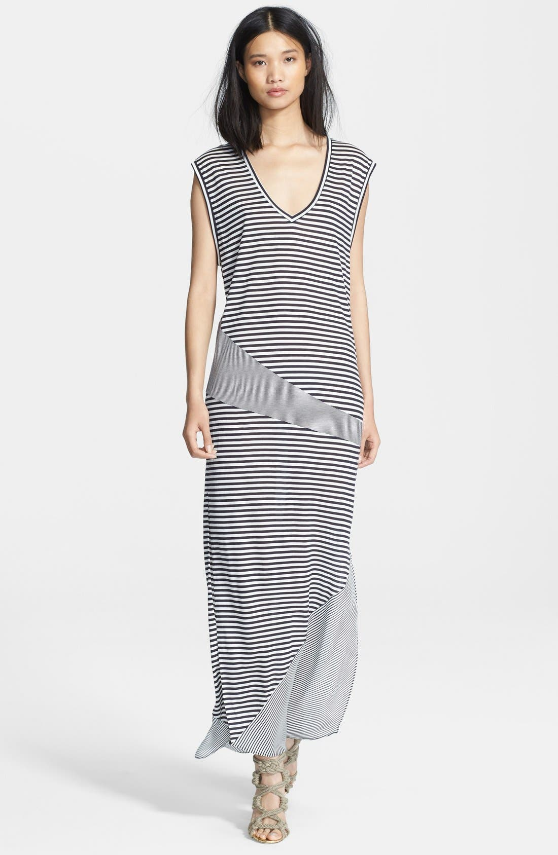 Alternate Image 1 Selected - Haute Hippie Mixed Stripe Jersey Gown